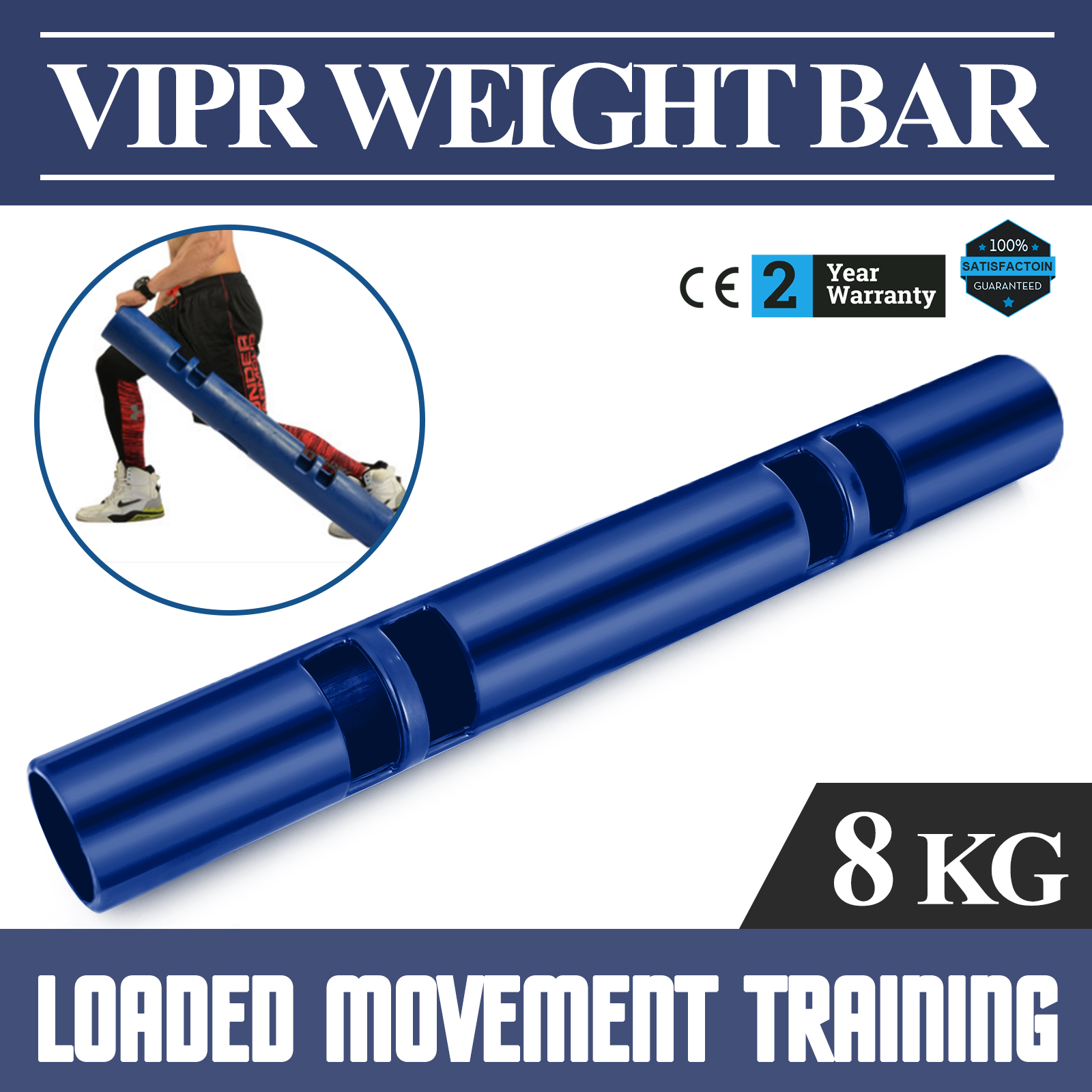 Vipr-Fitpro-Fitness-Tube-Loaded-Movement-Training-weightlifting-4-6-8-10-12-Kg thumbnail 37