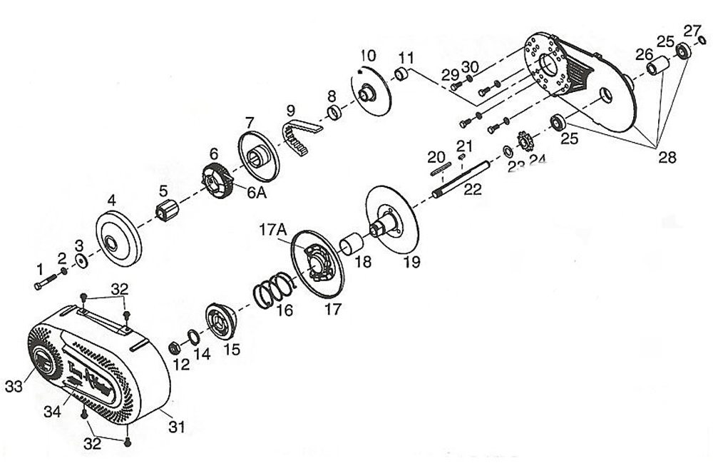 Go Kart Clutch Torque Converter 34 10t 4140 Chain 30 Series