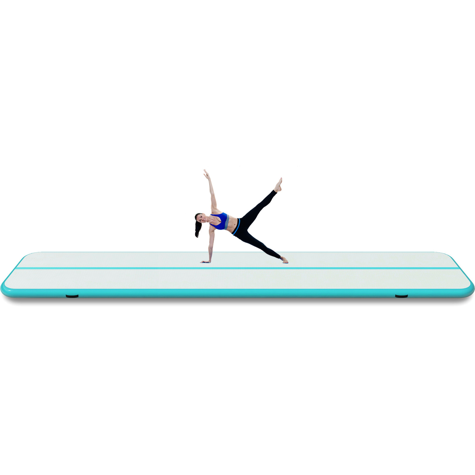 4-12M-Tapis-de-Gymnastique-Gonflable-Yoga-Fitness-Tapis-de-Tumbling-Airtrack miniature 118