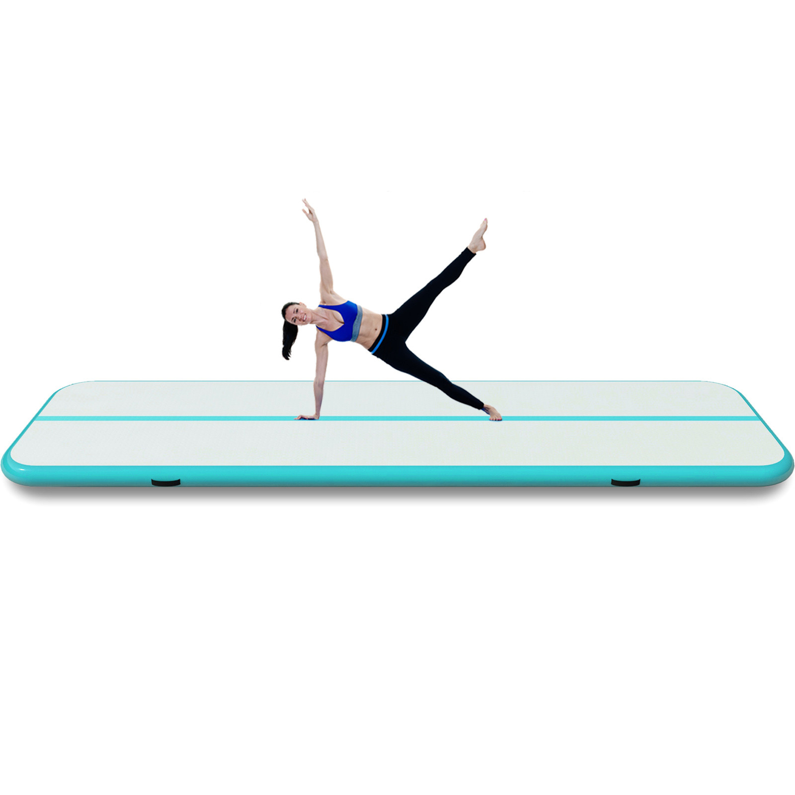 4-12M-Tapis-de-Gymnastique-Gonflable-Yoga-Fitness-Tapis-de-Tumbling-Airtrack miniature 58