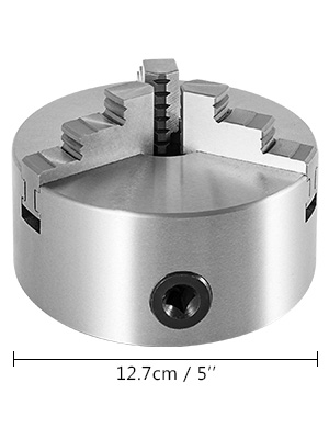 "Lathe Chuck K11-125 5/"" 3 Jaw Self-centering 125mm External Jaw Cast Iron NEWEST"