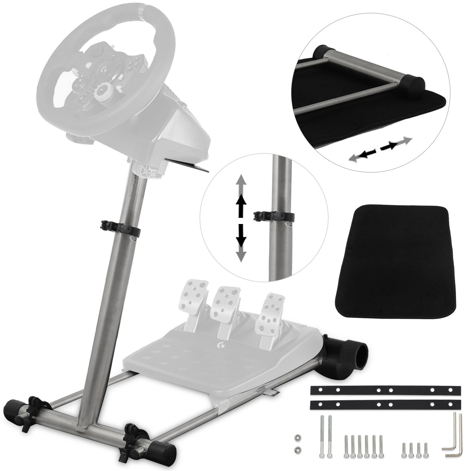297f2e08cc4 Image is loading Racing-Simulator-Steering-Wheel-stand-Logitech-DELUXE-V2-