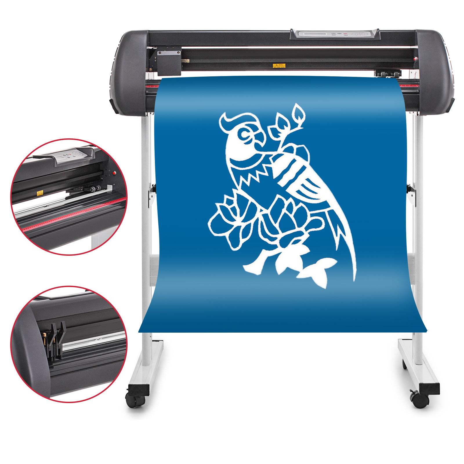 Details about vinyl cutter plotter cutting 28 sign sticker making print software 3 blades usb