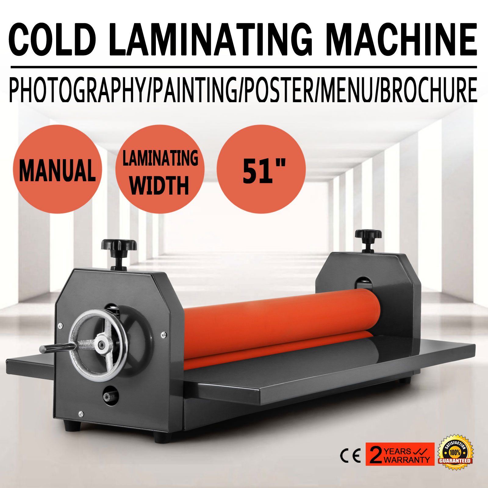 51in Cold Laminator Laminating Machine Manual Roll