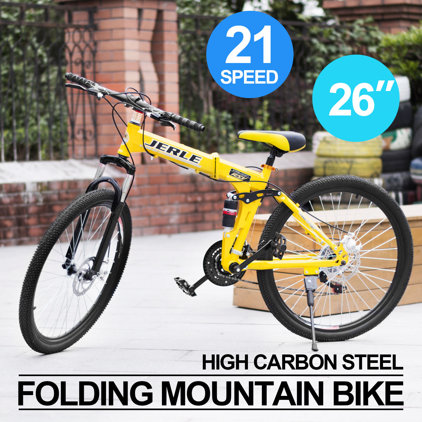 26 zoll folding mountainbike fahrrad mtb 21 gang. Black Bedroom Furniture Sets. Home Design Ideas