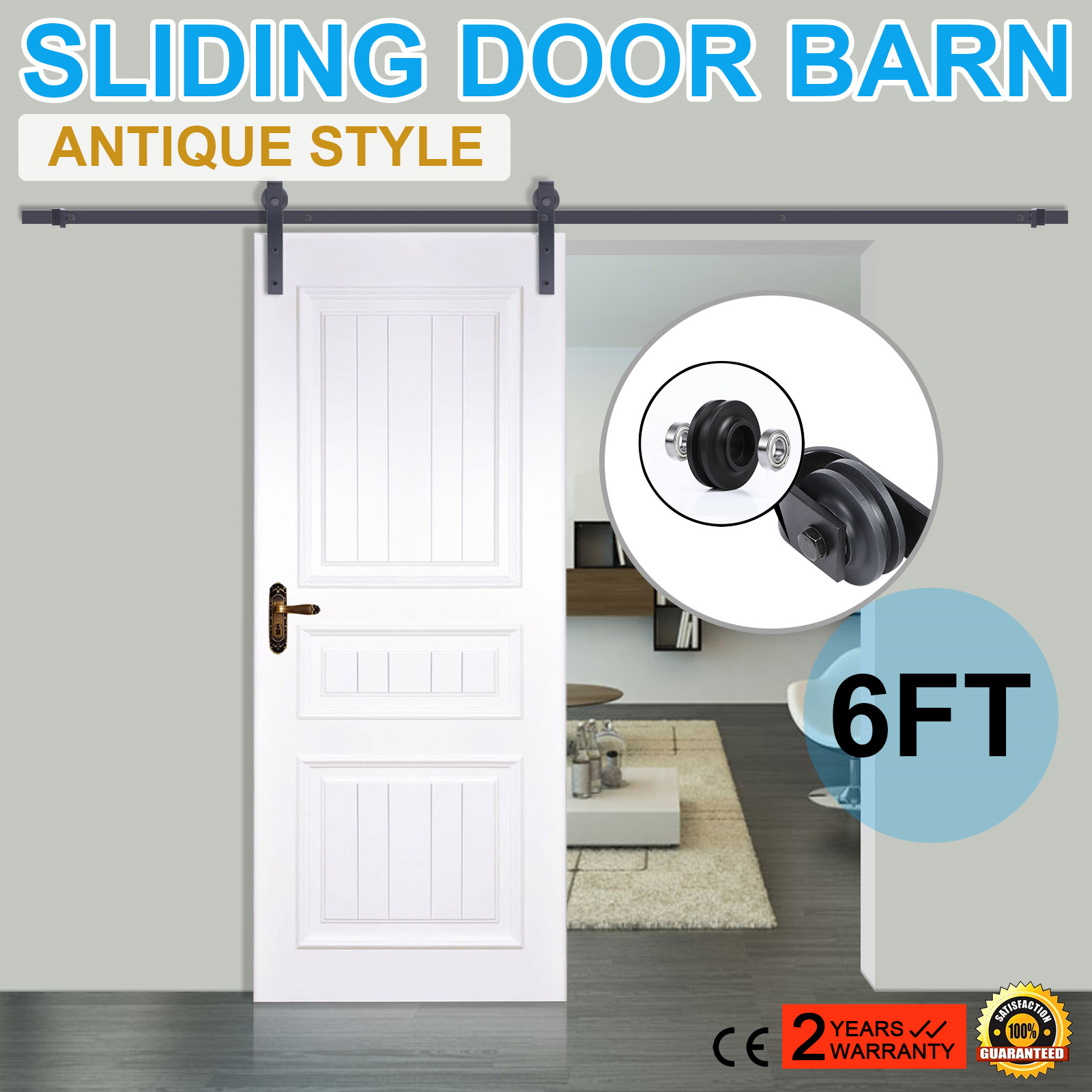 modern find homcom door set interior stainless double guides quotations sliding shopping flat barn hardware get steel kit barns cheap