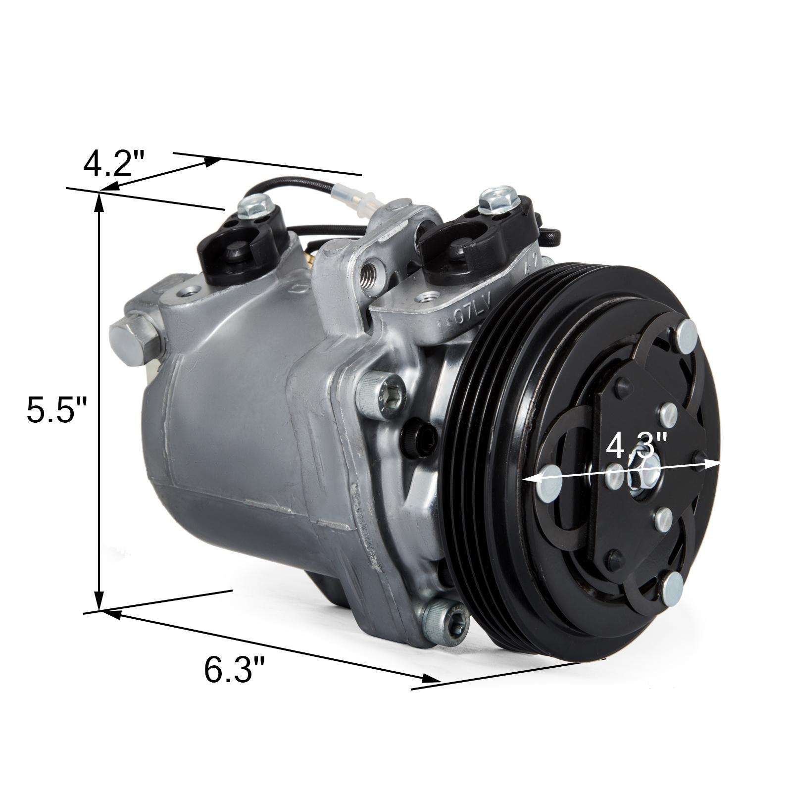 Get AC Compressor A//C Clutch For Suzuki Grand Vitara 14155434 99-05 2.5L Free