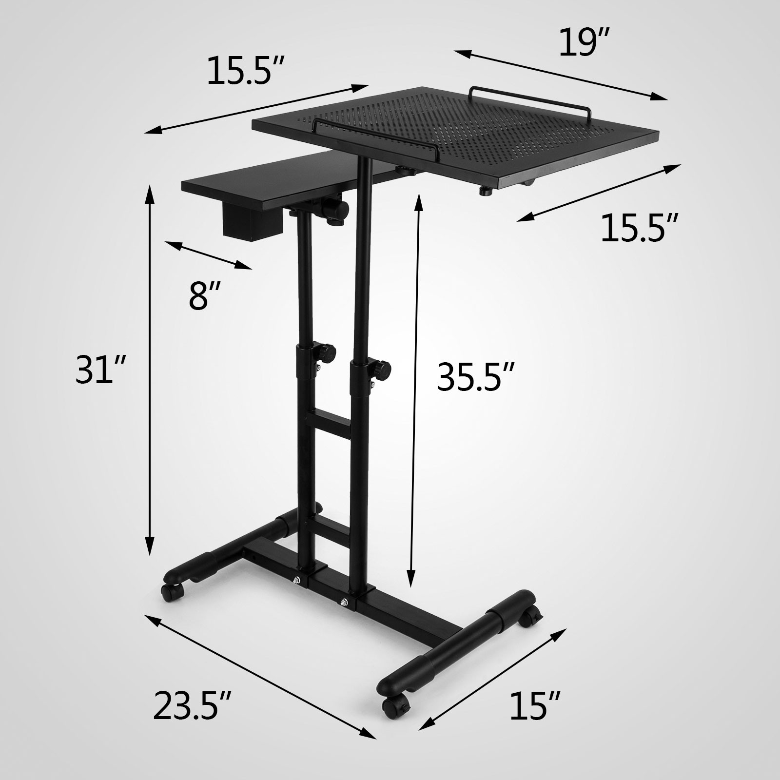 laptop angle langria with adjustable height desk mobile cart rolling lbs side and degree top us portable notebook table p itm swivel split