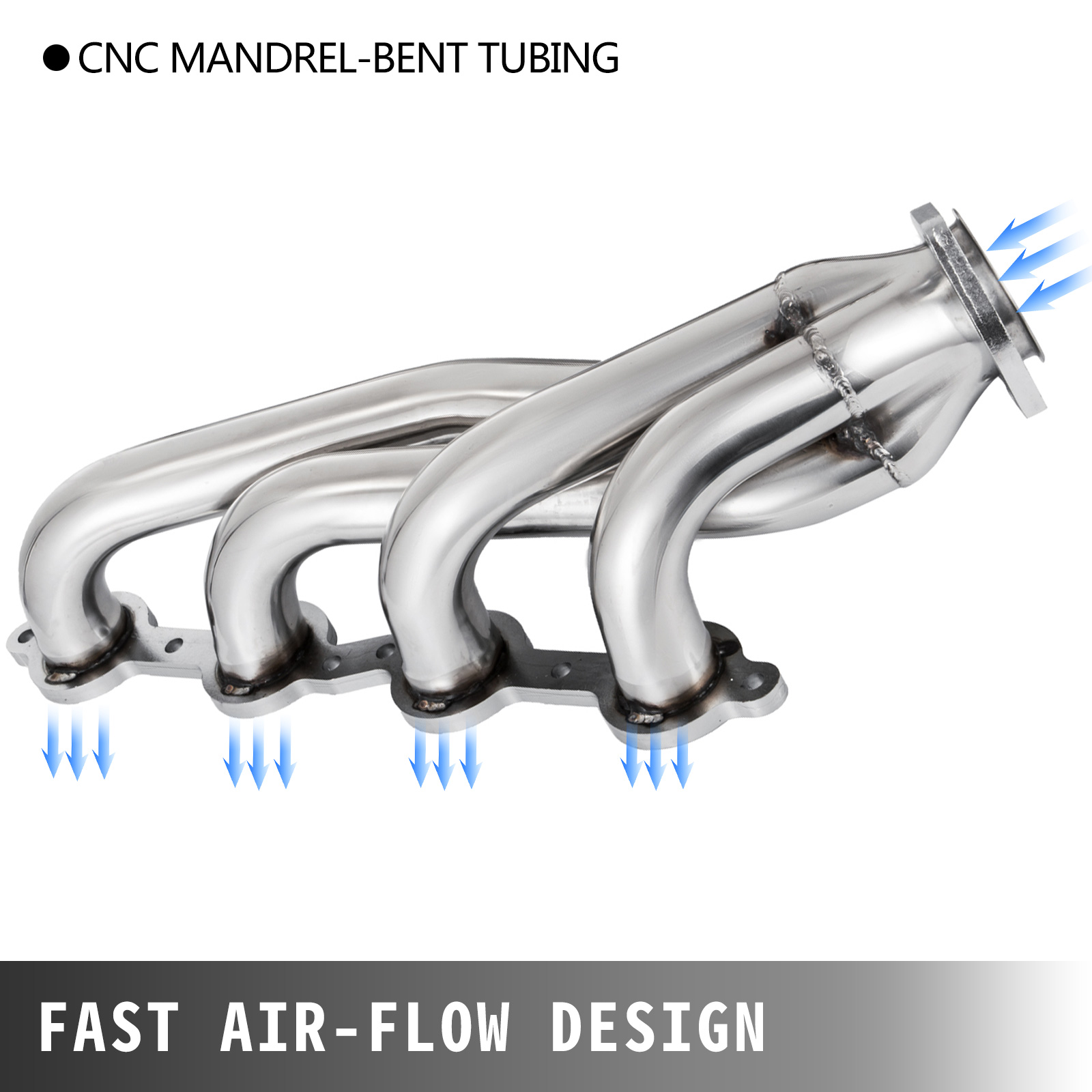 COSTBILE Exhaust Manifold Automotive Replacement S10 Conversion Engine Header Compatible with Chevy LS1 LS2 LS3 LS6 LS9 LS
