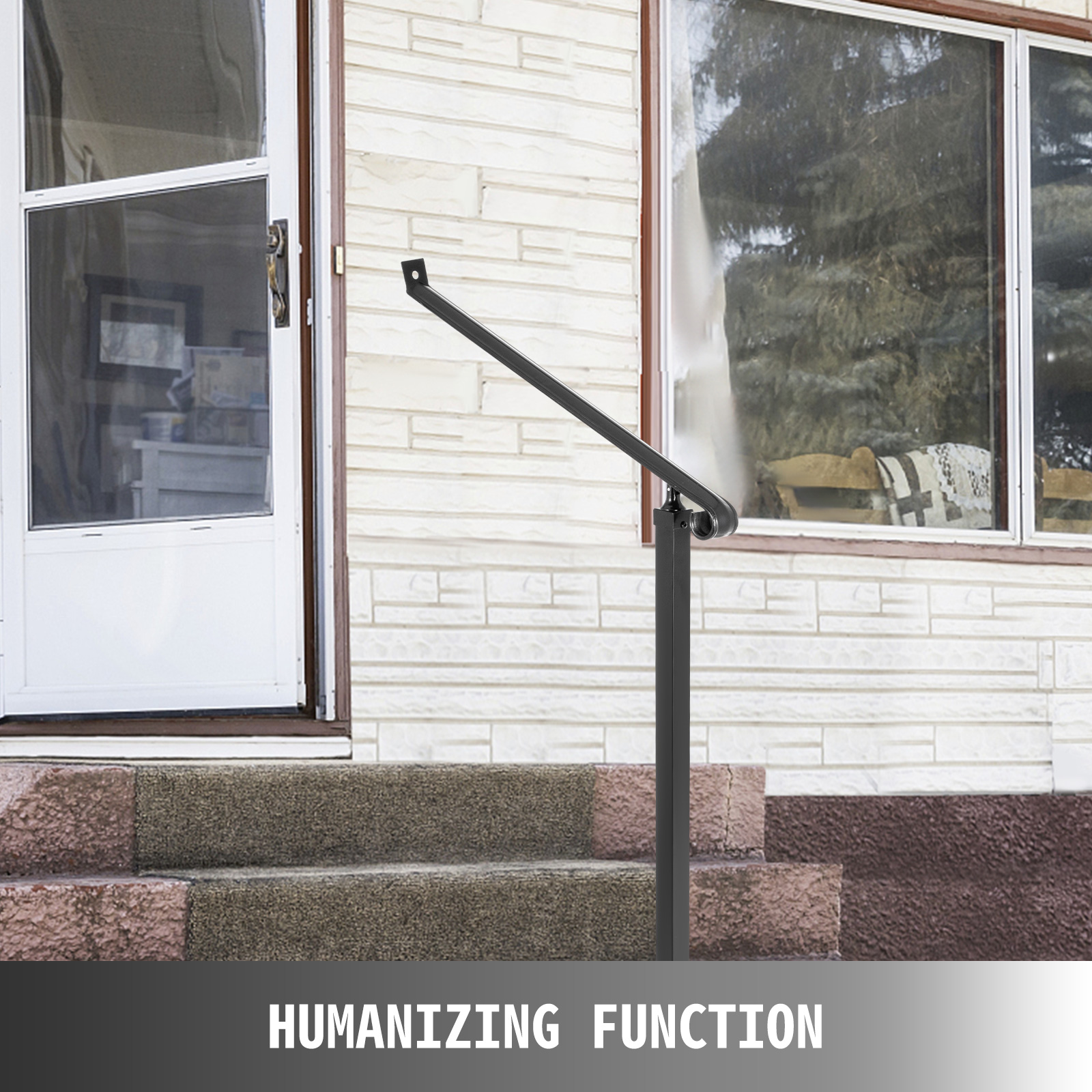 Outdoor-Stair-Railing-Step-Handrail-Steel-Rail-for-Outdoor-Porch-One-Two-Step thumbnail 39