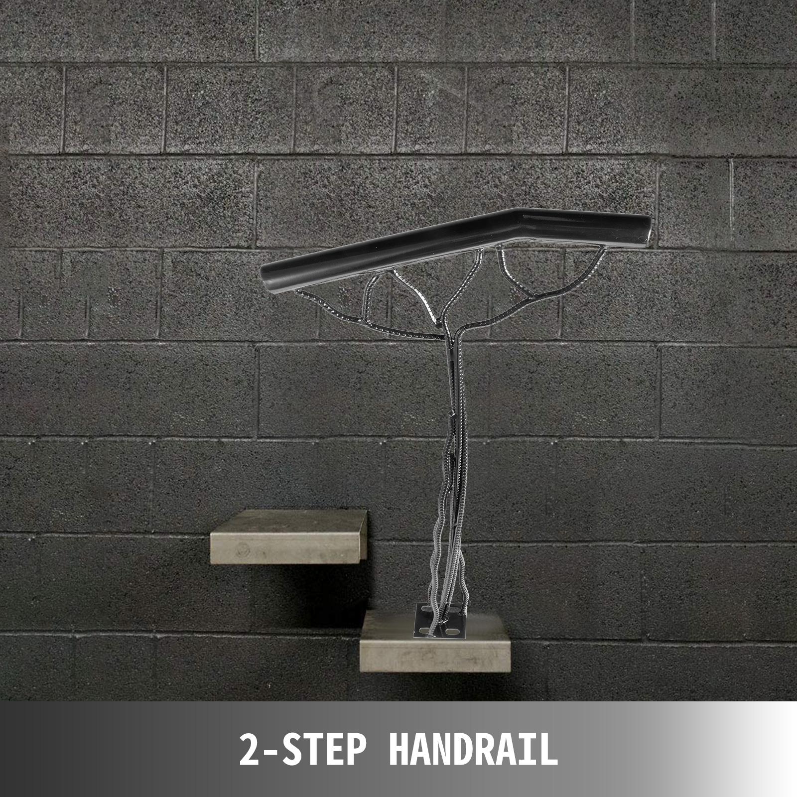 Outdoor-Stair-Railing-Step-Handrail-Steel-Rail-for-Outdoor-Porch-One-Two-Step thumbnail 14