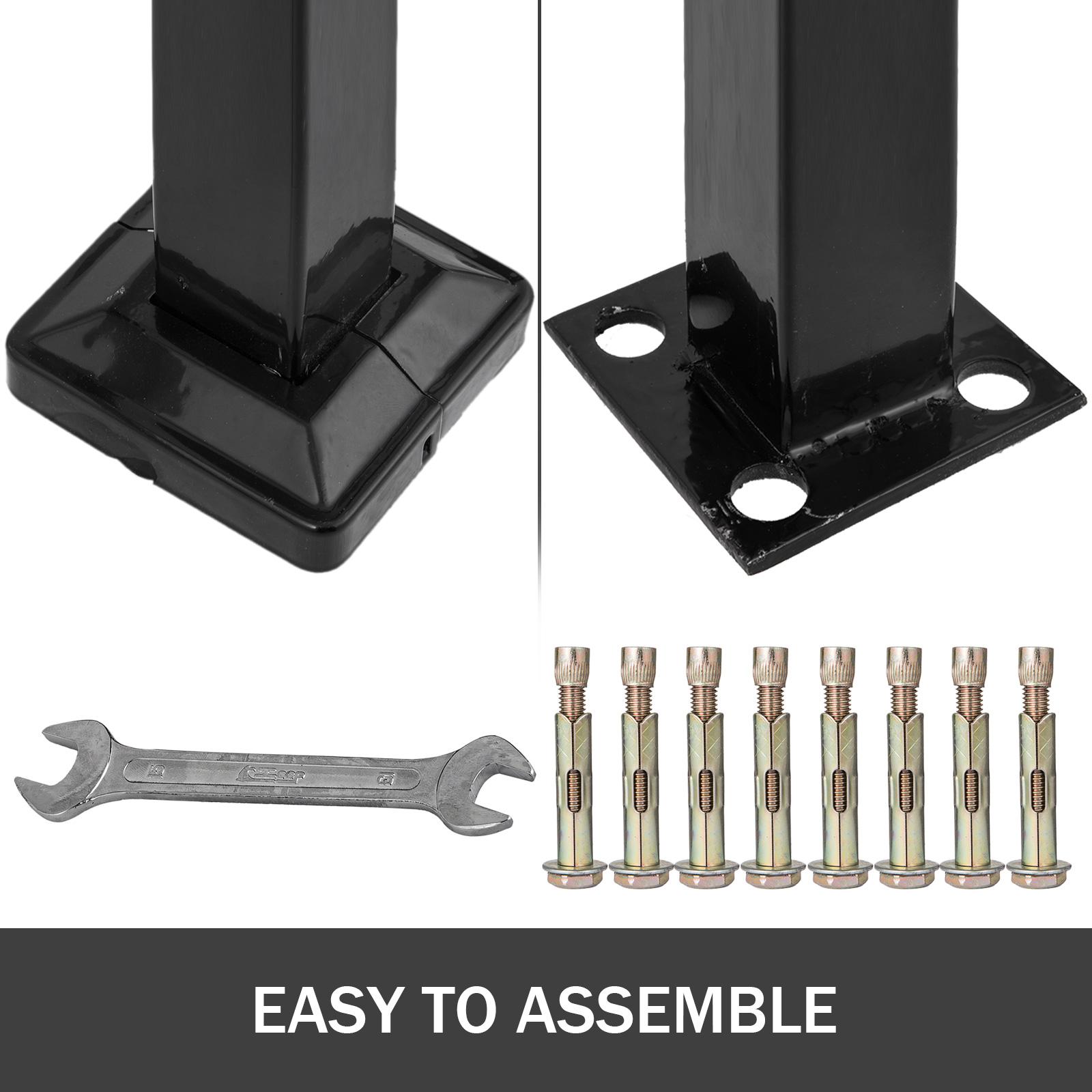 Rampe D Escalier Arche 2 3 Marches Balustrade Noir Mat Accessoires Inclus Hotels Ebay