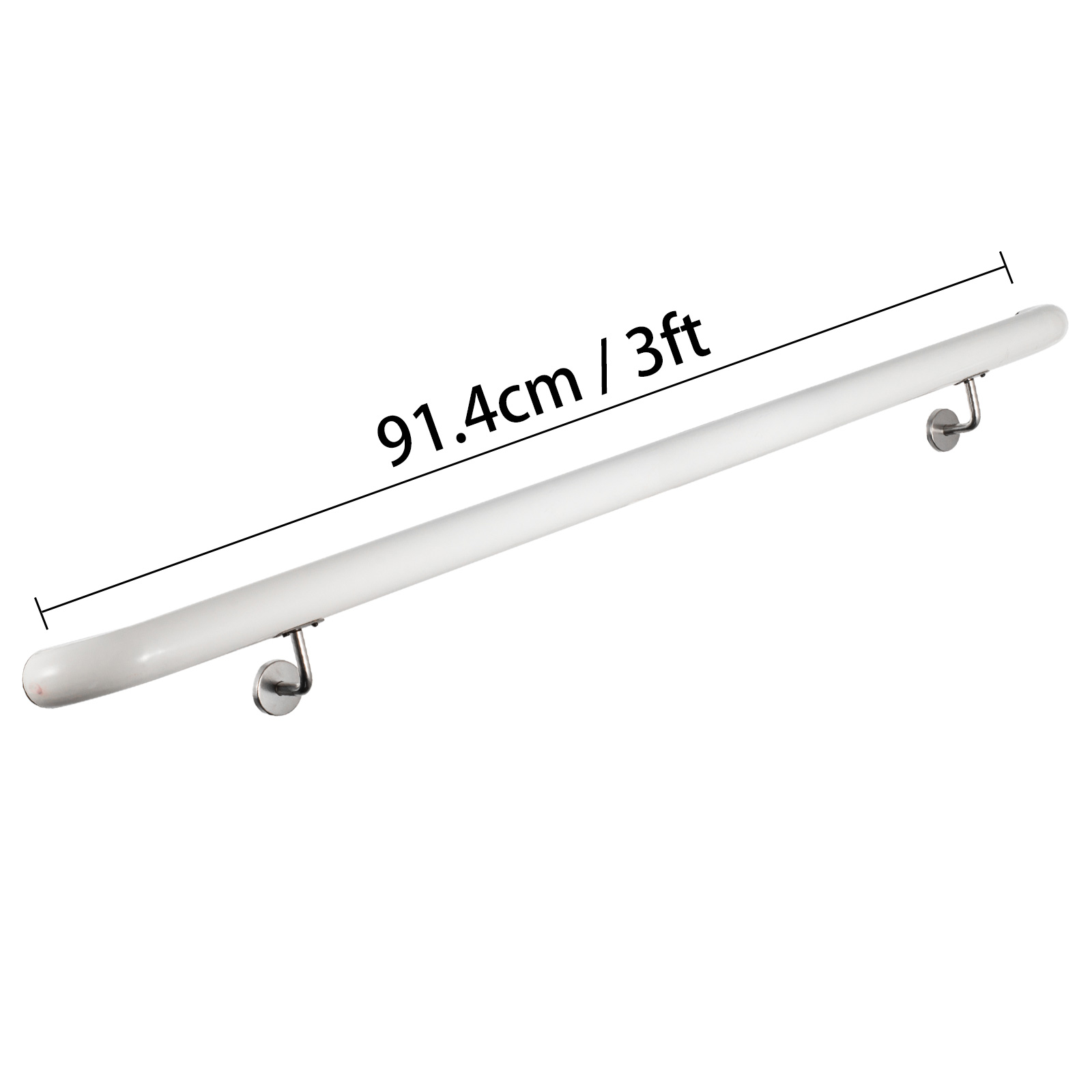 Stair-Handrail-Stair-Rail-Aluminum-Indoor-Handrail-for-Stairs-3-16-039-White-200lbs thumbnail 20