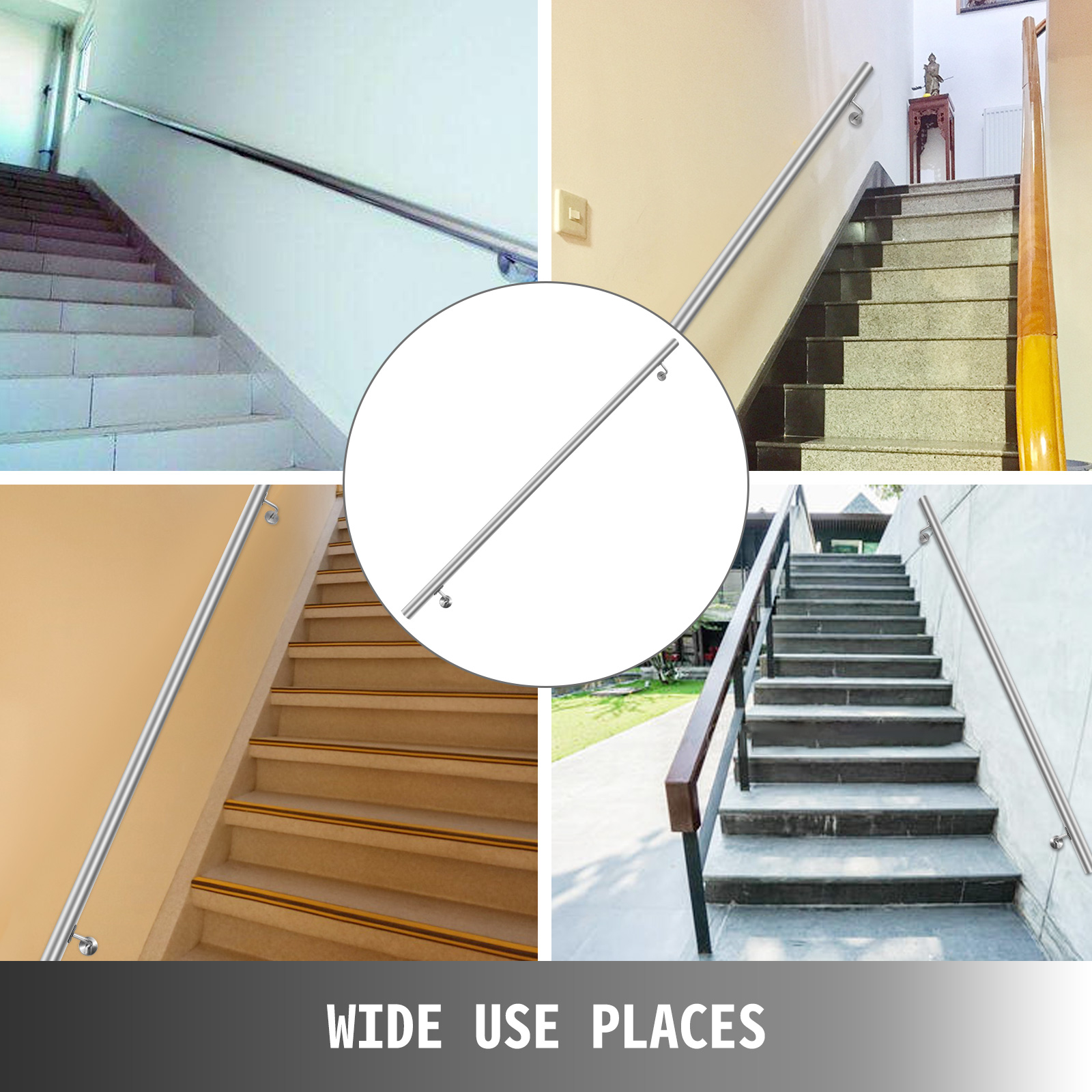Stair-Handrail-Stair-Rail-3-10ft-Stainless-Steel-Handrail-for-Stairs-200lbs-Load thumbnail 66