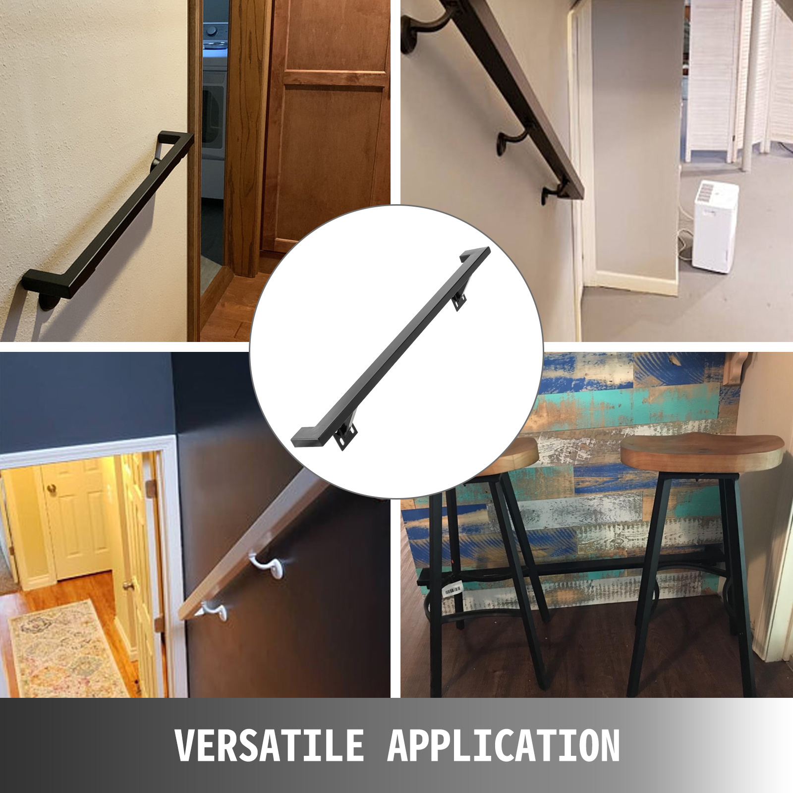 Stair-Handrail-Stair-Rail-2ft-5ft-Two-Five-Step-Handrail-for-Stairs-Wrought-Iron thumbnail 139