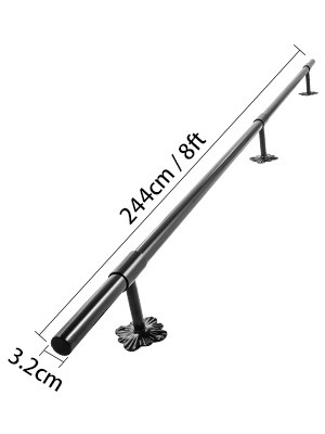 Stair Handrail Stair Rail 6ft Stainless Steel Handrails for Stairs 200lbs Load