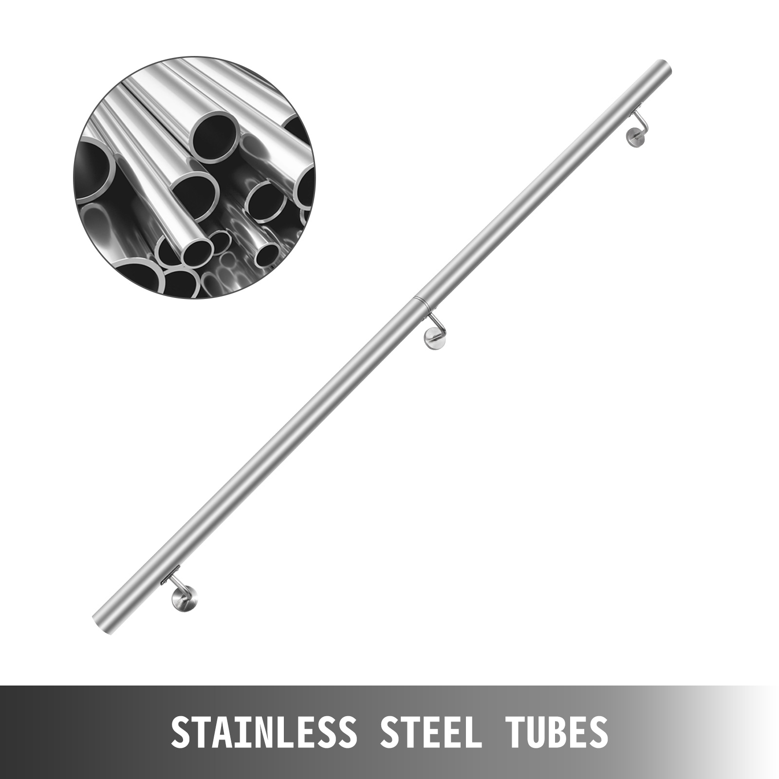 Stair-Handrail-Stair-Rail-3-10ft-Stainless-Steel-Handrail-for-Stairs-200lbs-Load thumbnail 85
