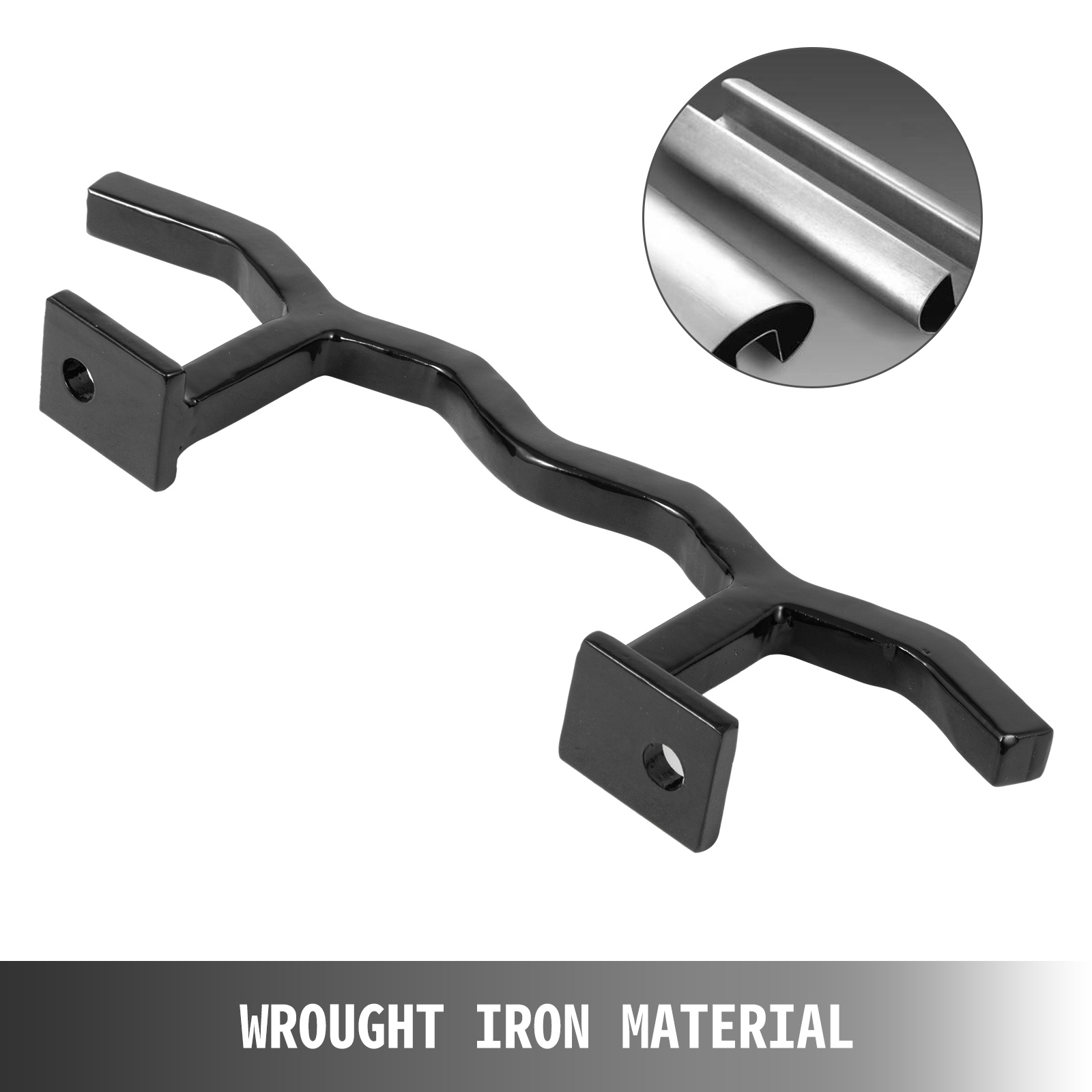 Handrails-for-Outdoor-Step-Wrought-Iron-Handrail-20-034-Length-Porch-Deck-Railing thumbnail 14