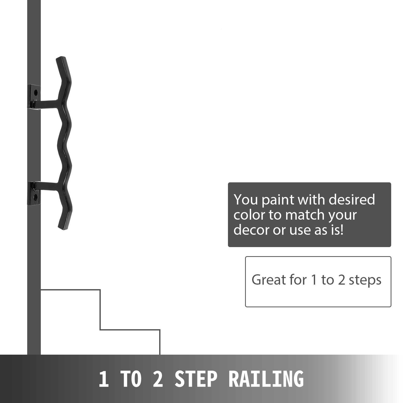 Handrails-for-Outdoor-Step-Wrought-Iron-Handrail-20-034-Length-Porch-Deck-Railing thumbnail 15