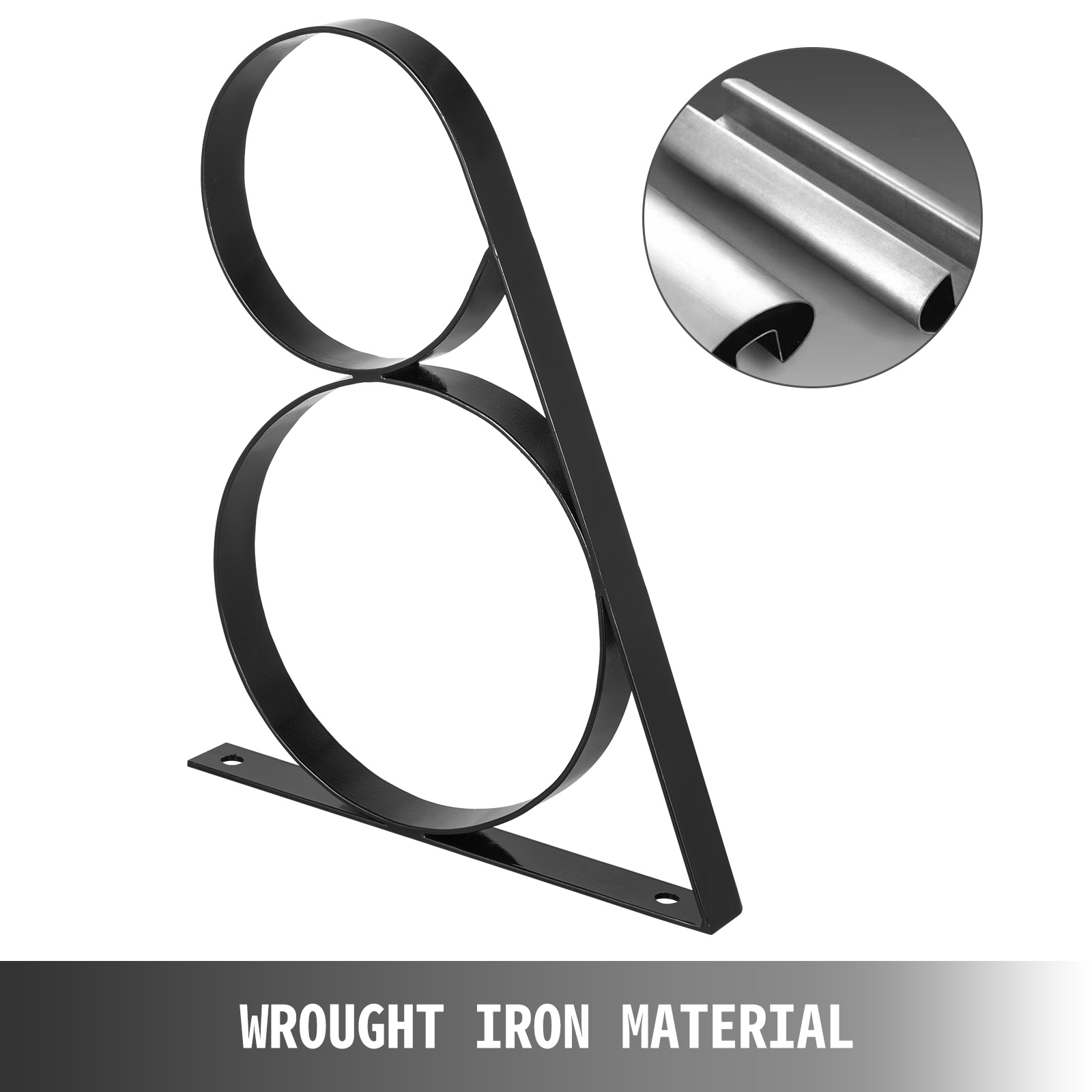 Handrails-for-Outdoor-Step-Wrought-Iron-Handrail-20-034-Length-Porch-Deck-Railing thumbnail 26