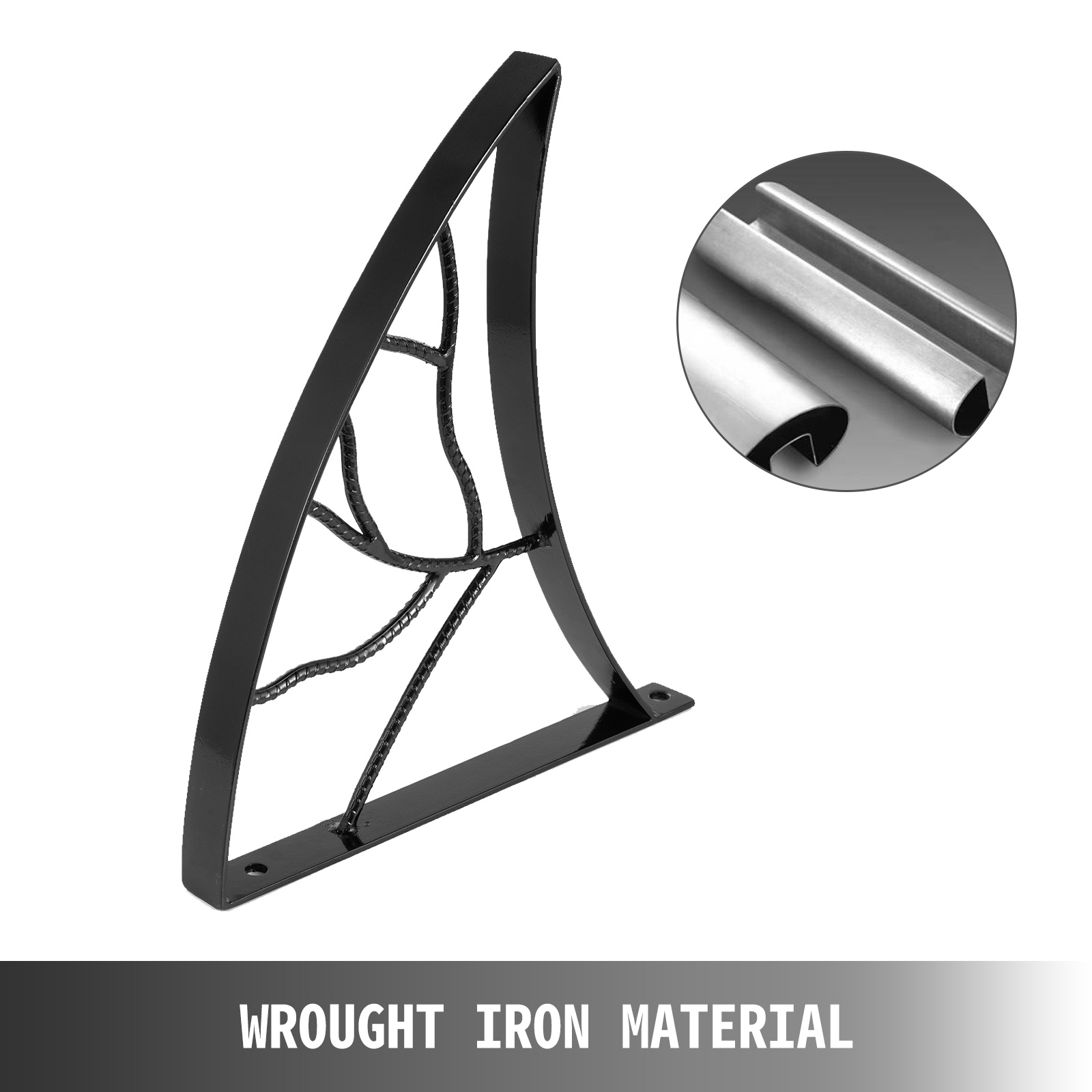 Handrails-for-Outdoor-Step-Wrought-Iron-Handrail-20-034-Length-Porch-Deck-Railing thumbnail 38