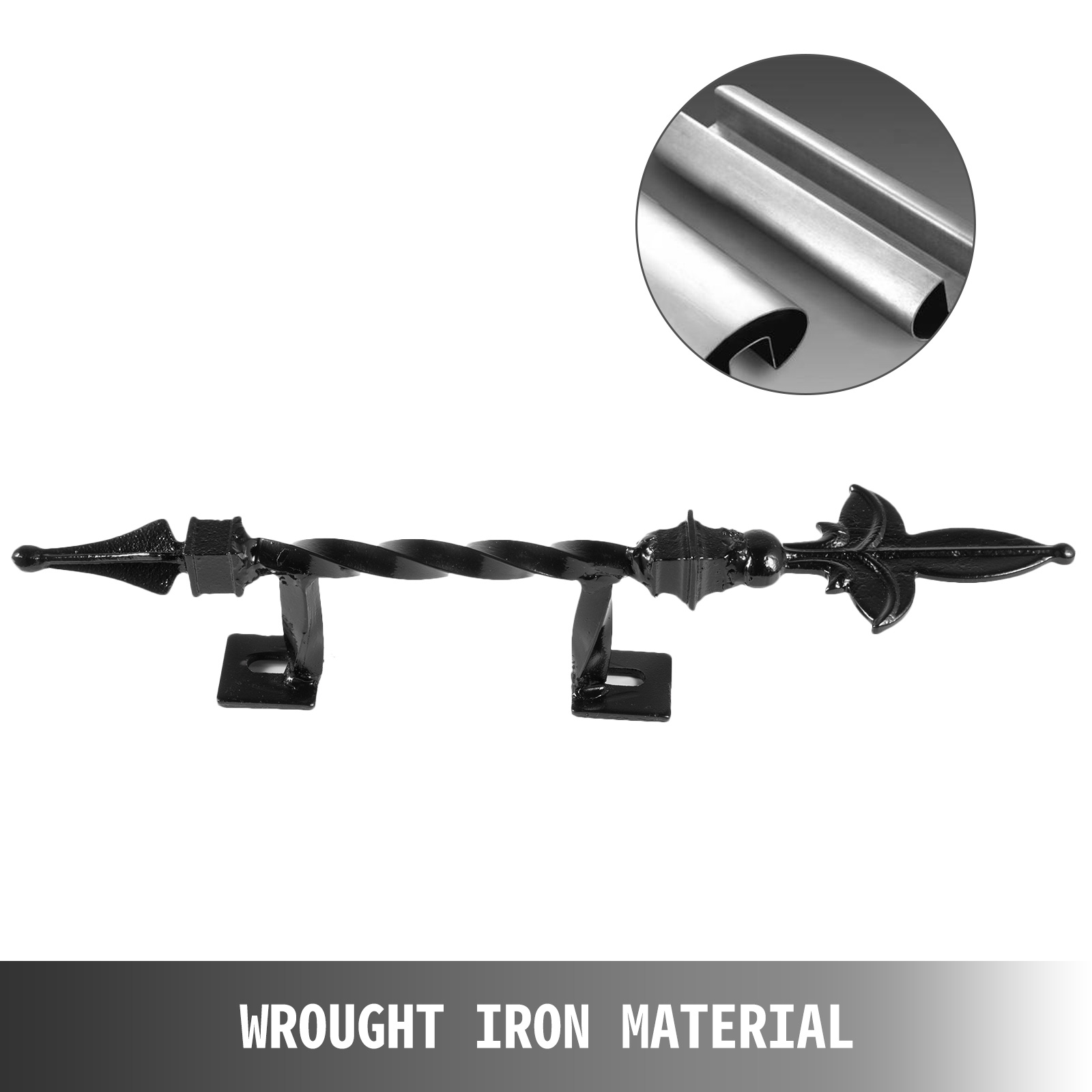 Handrails-for-Outdoor-Step-Wrought-Iron-Handrail-20-034-Length-Porch-Deck-Railing thumbnail 50