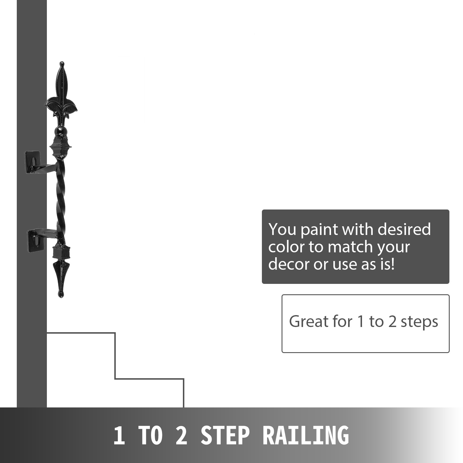 Handrails-for-Outdoor-Step-Wrought-Iron-Handrail-20-034-Length-Porch-Deck-Railing thumbnail 51