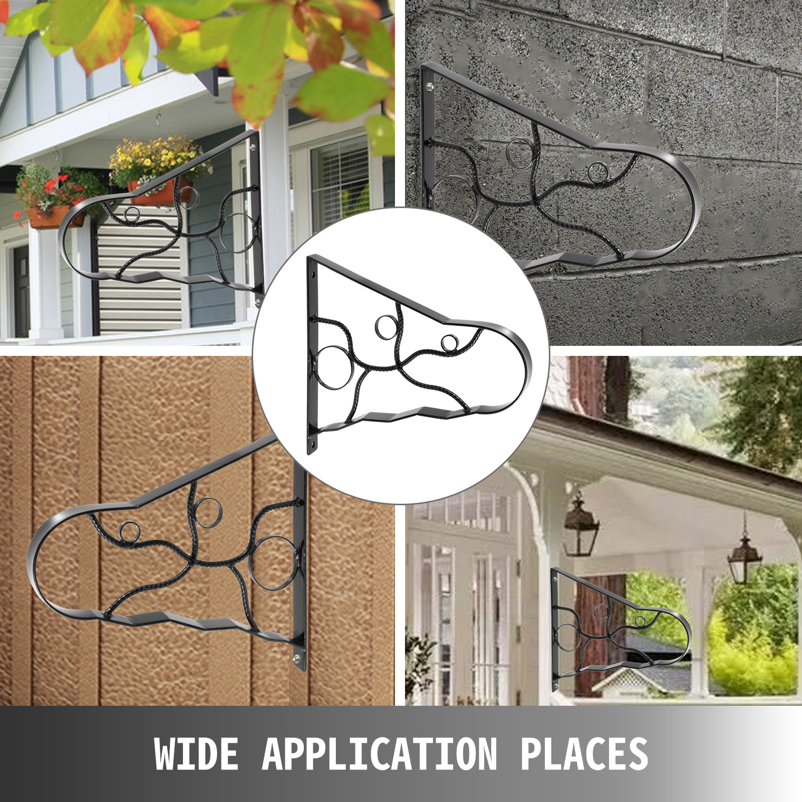 Handrails-for-Outdoor-Step-Wrought-Iron-Handrail-20-034-Length-Porch-Deck-Railing thumbnail 67