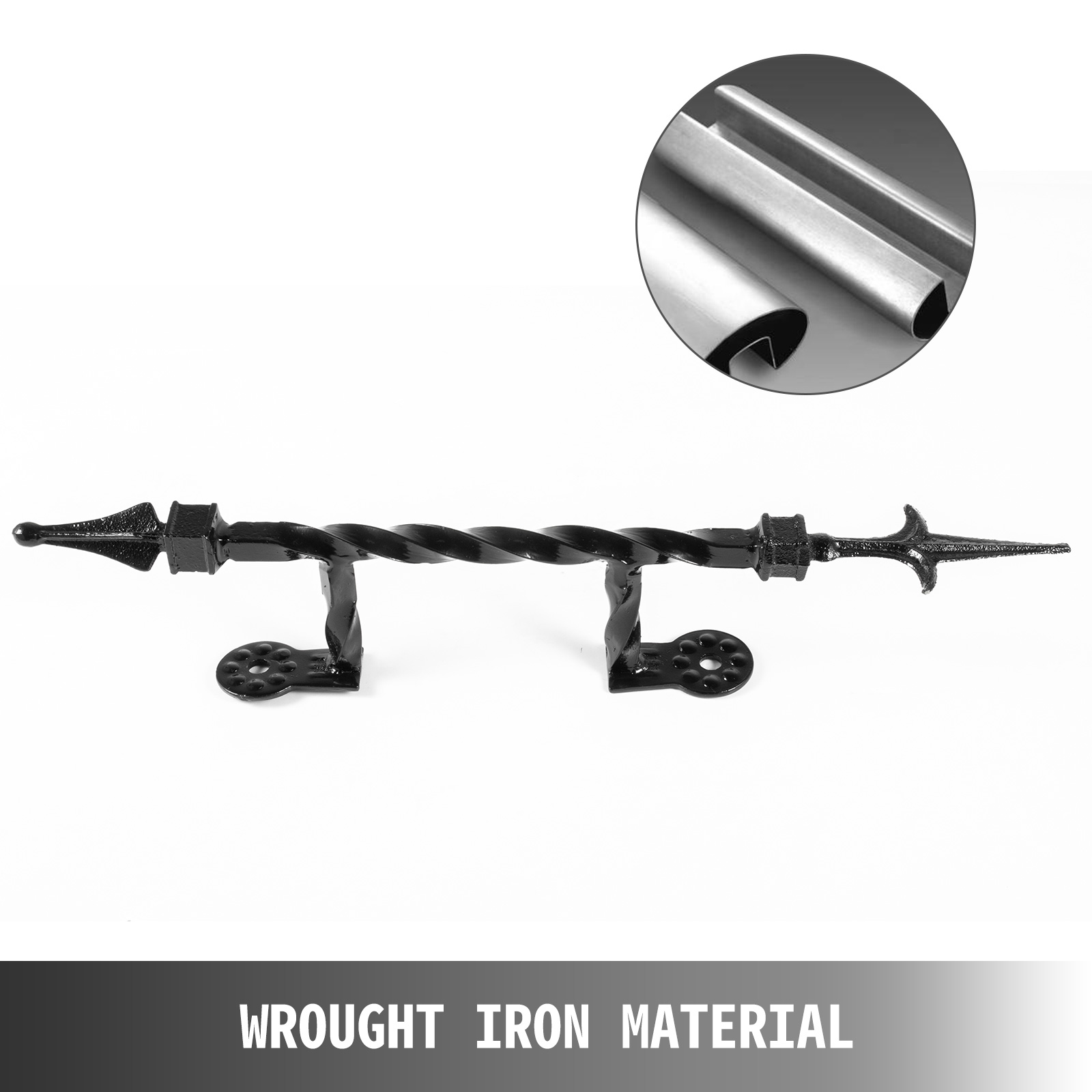 Handrails-for-Outdoor-Step-Wrought-Iron-Handrail-20-034-Length-Porch-Deck-Railing thumbnail 86