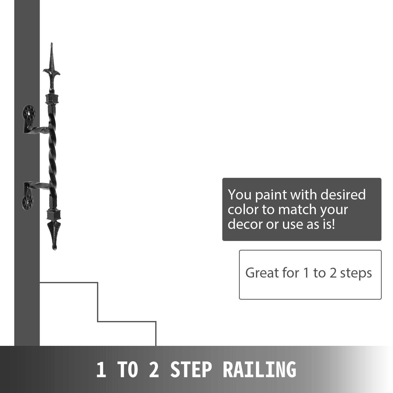 Handrails-for-Outdoor-Step-Wrought-Iron-Handrail-20-034-Length-Porch-Deck-Railing thumbnail 87