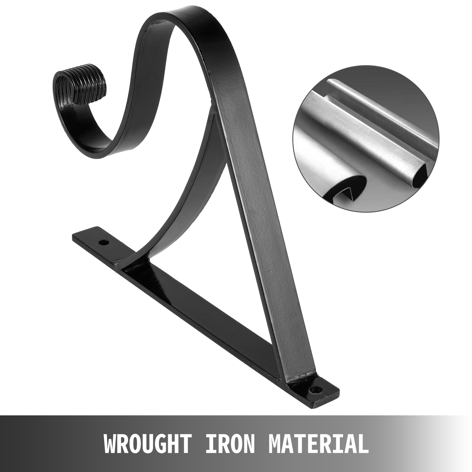 Handrails-for-Outdoor-Step-Wrought-Iron-Handrail-20-034-Length-Porch-Deck-Railing thumbnail 98