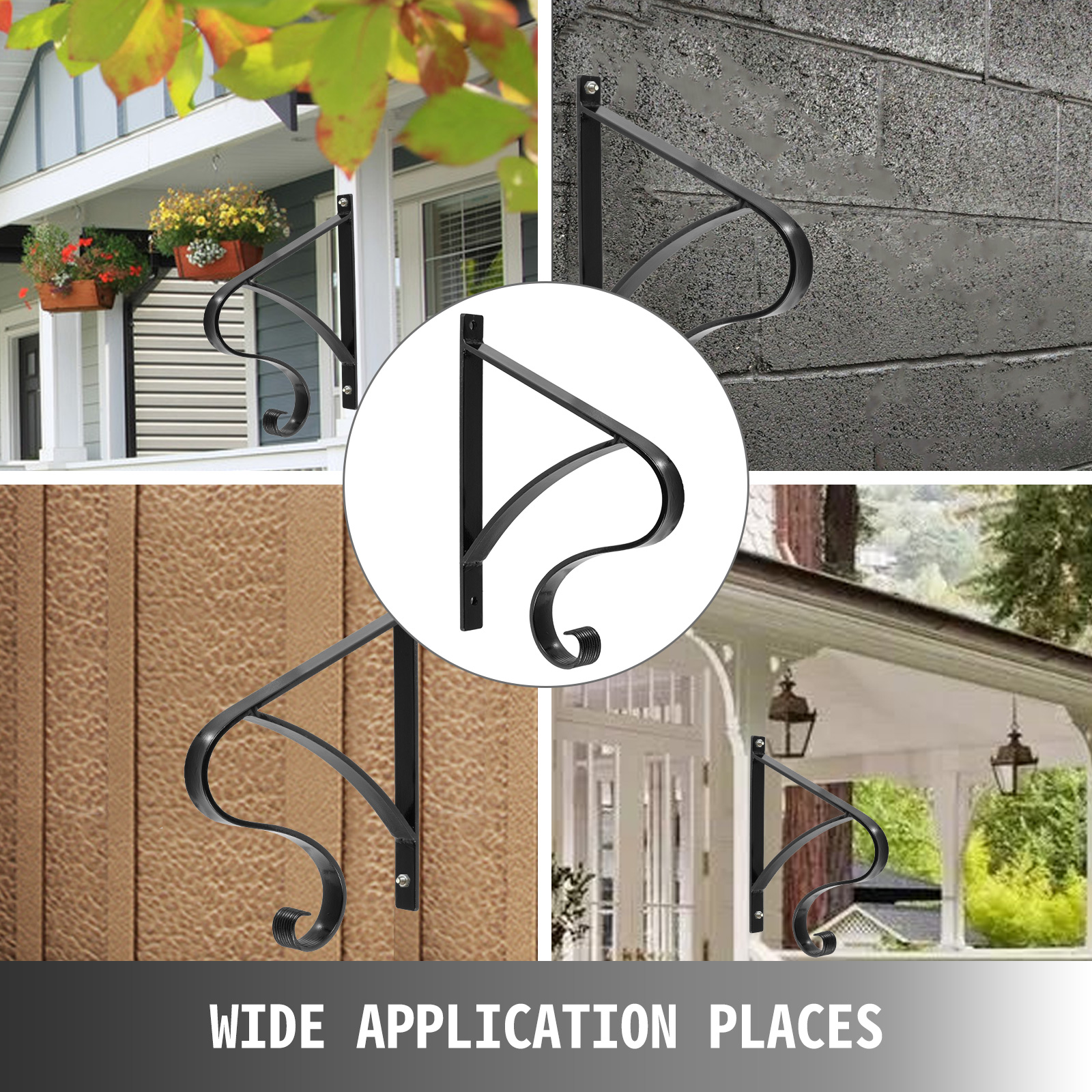 Handrails-for-Outdoor-Step-Wrought-Iron-Handrail-20-034-Length-Porch-Deck-Railing thumbnail 103