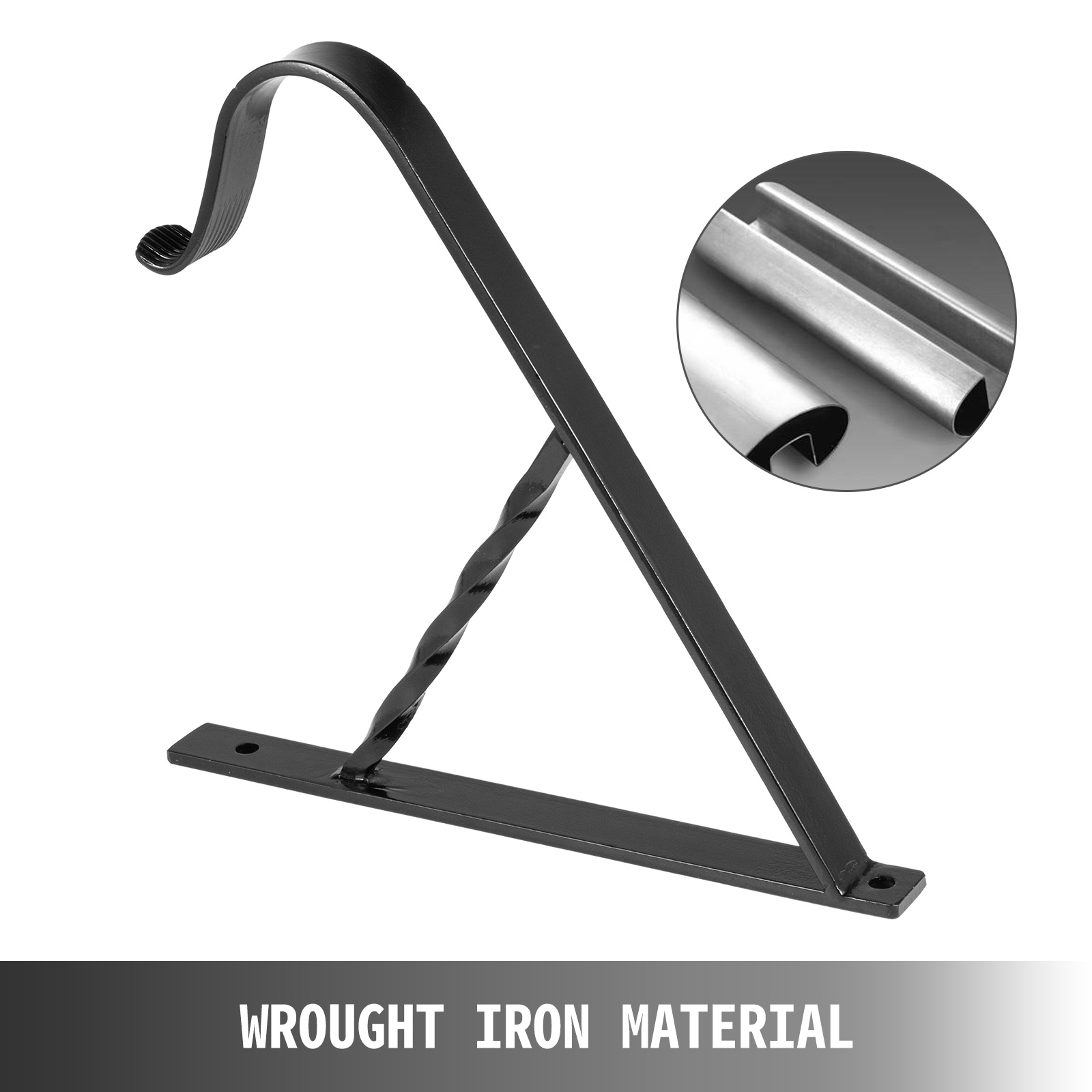 Handrails-for-Outdoor-Step-Wrought-Iron-Handrail-20-034-Length-Porch-Deck-Railing thumbnail 110
