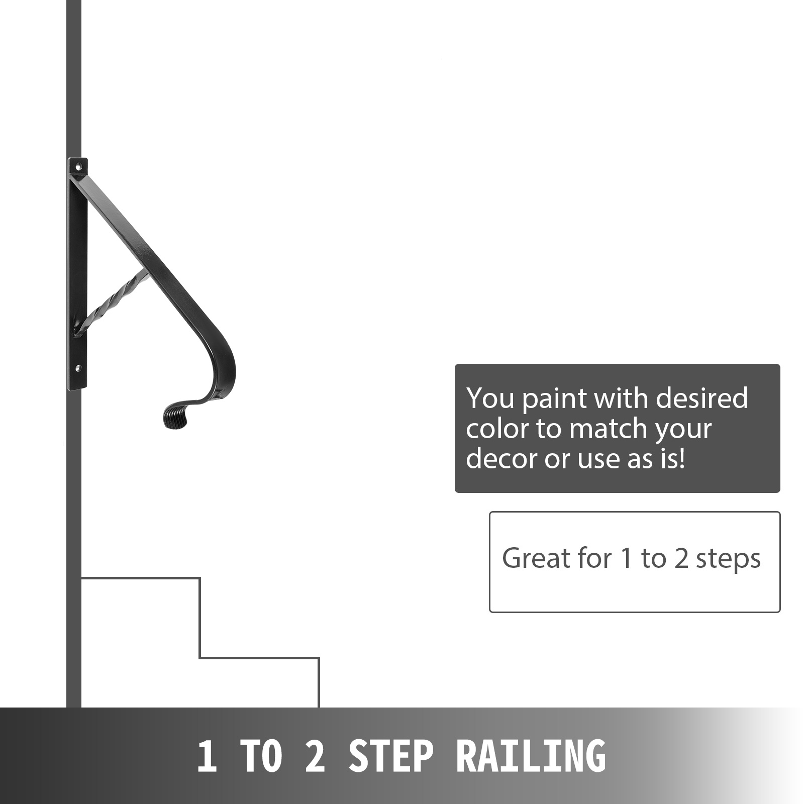 Handrails-for-Outdoor-Step-Wrought-Iron-Handrail-20-034-Length-Porch-Deck-Railing thumbnail 111
