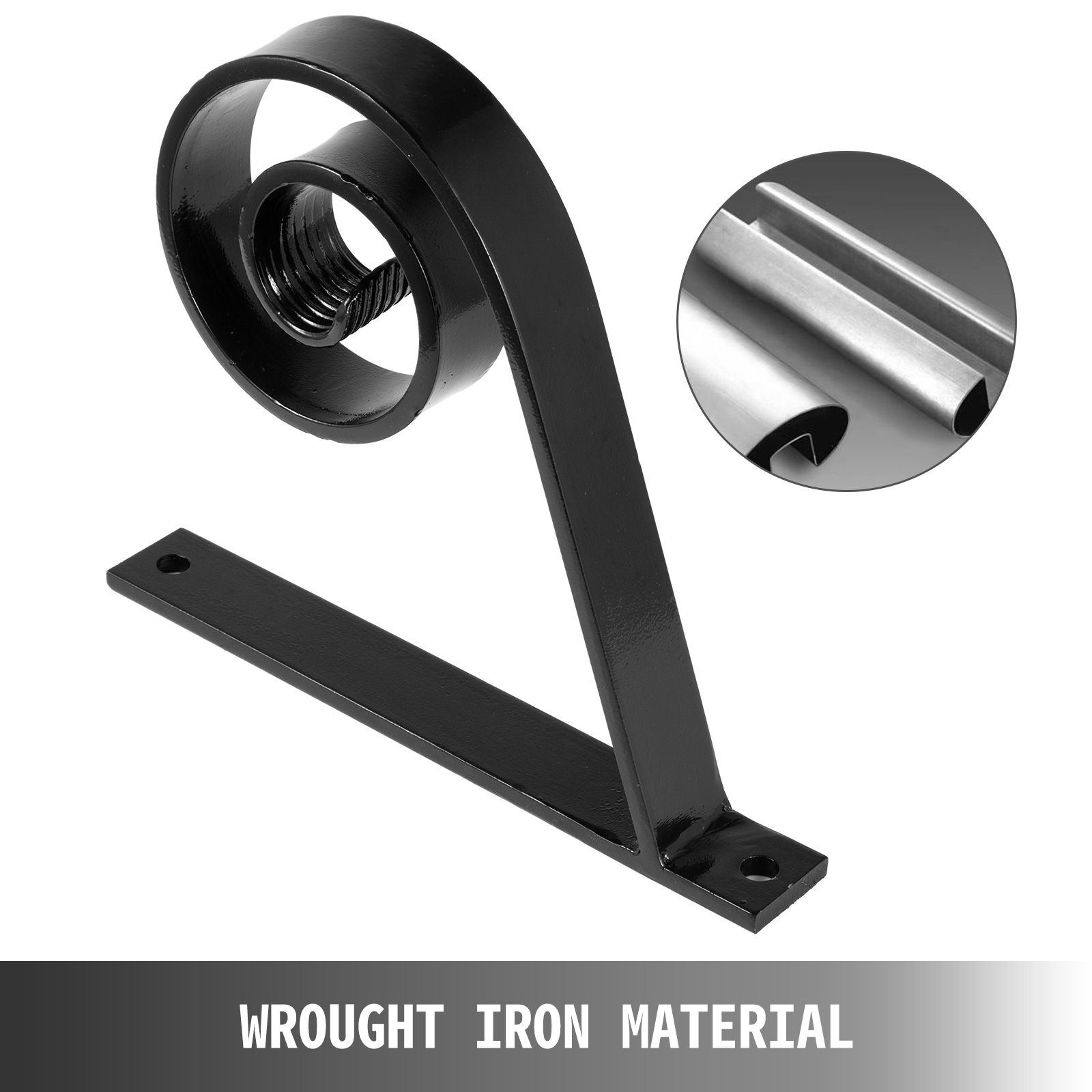 Handrails-for-Outdoor-Step-Wrought-Iron-Handrail-20-034-Length-Porch-Deck-Railing thumbnail 122