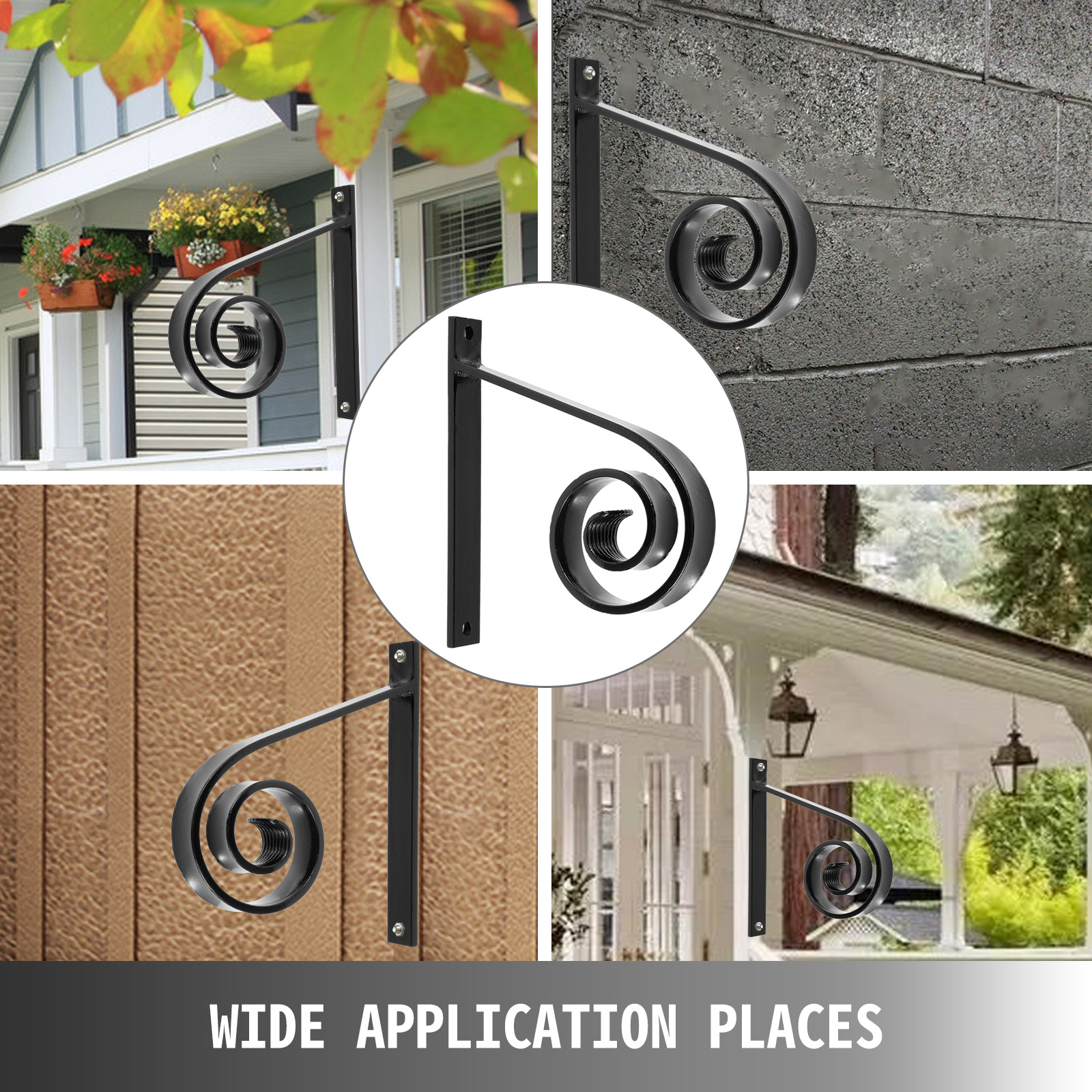 Handrails-for-Outdoor-Step-Wrought-Iron-Handrail-20-034-Length-Porch-Deck-Railing thumbnail 127