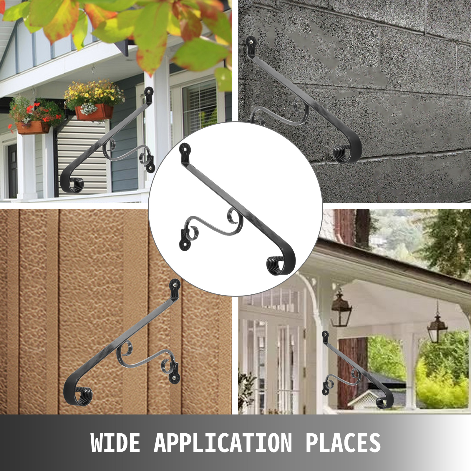 Handrails-for-Outdoor-Step-Wrought-Iron-Handrail-20-034-Length-Porch-Deck-Railing thumbnail 139
