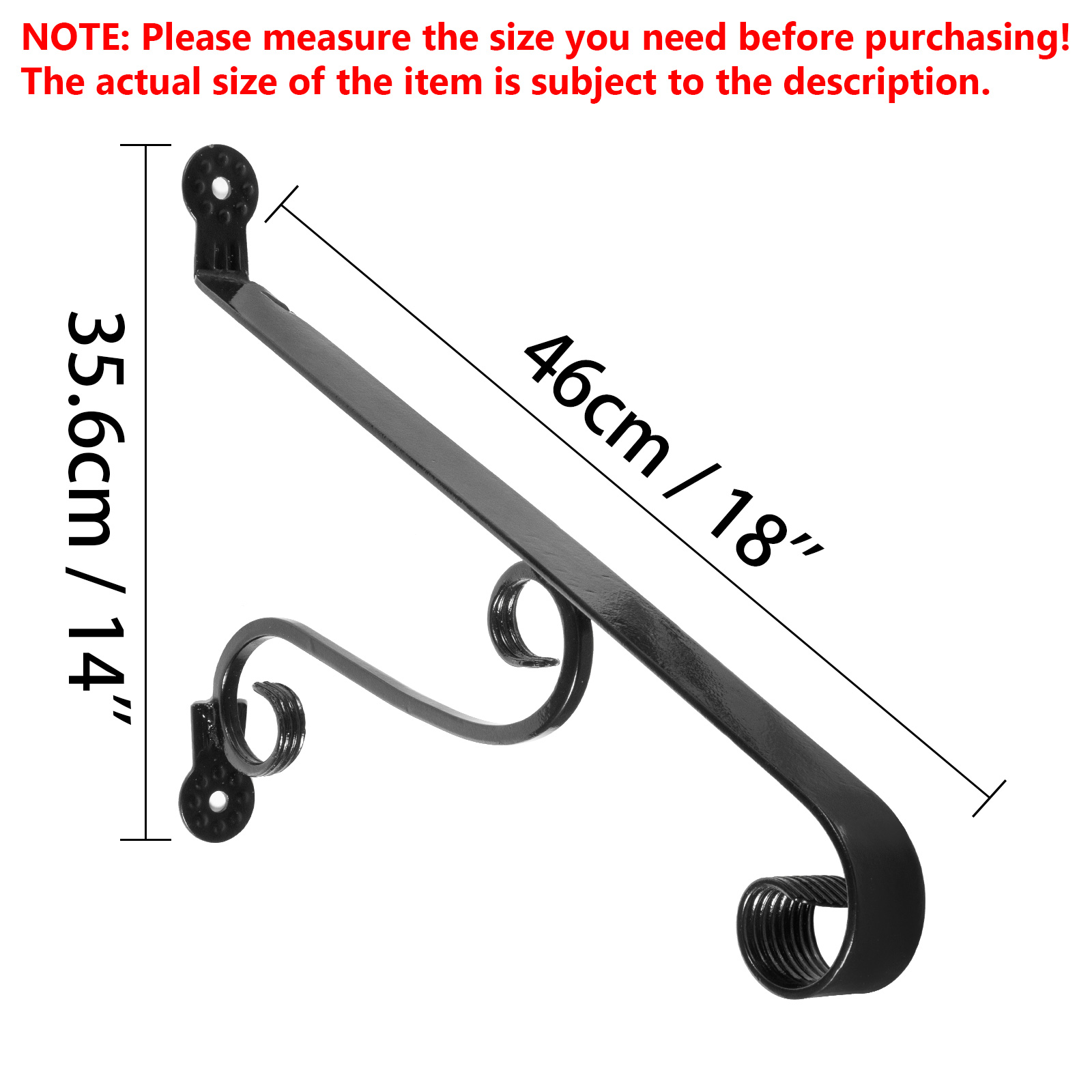 Handrails-for-Outdoor-Step-Wrought-Iron-Handrail-20-034-Length-Porch-Deck-Railing thumbnail 140
