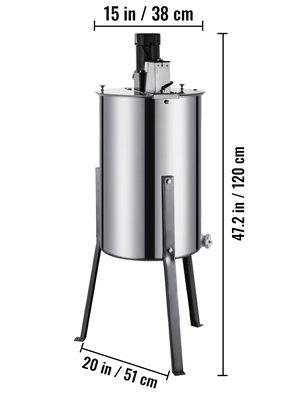 2 Frame, Stainless Steel, Electric Honey  Extractor