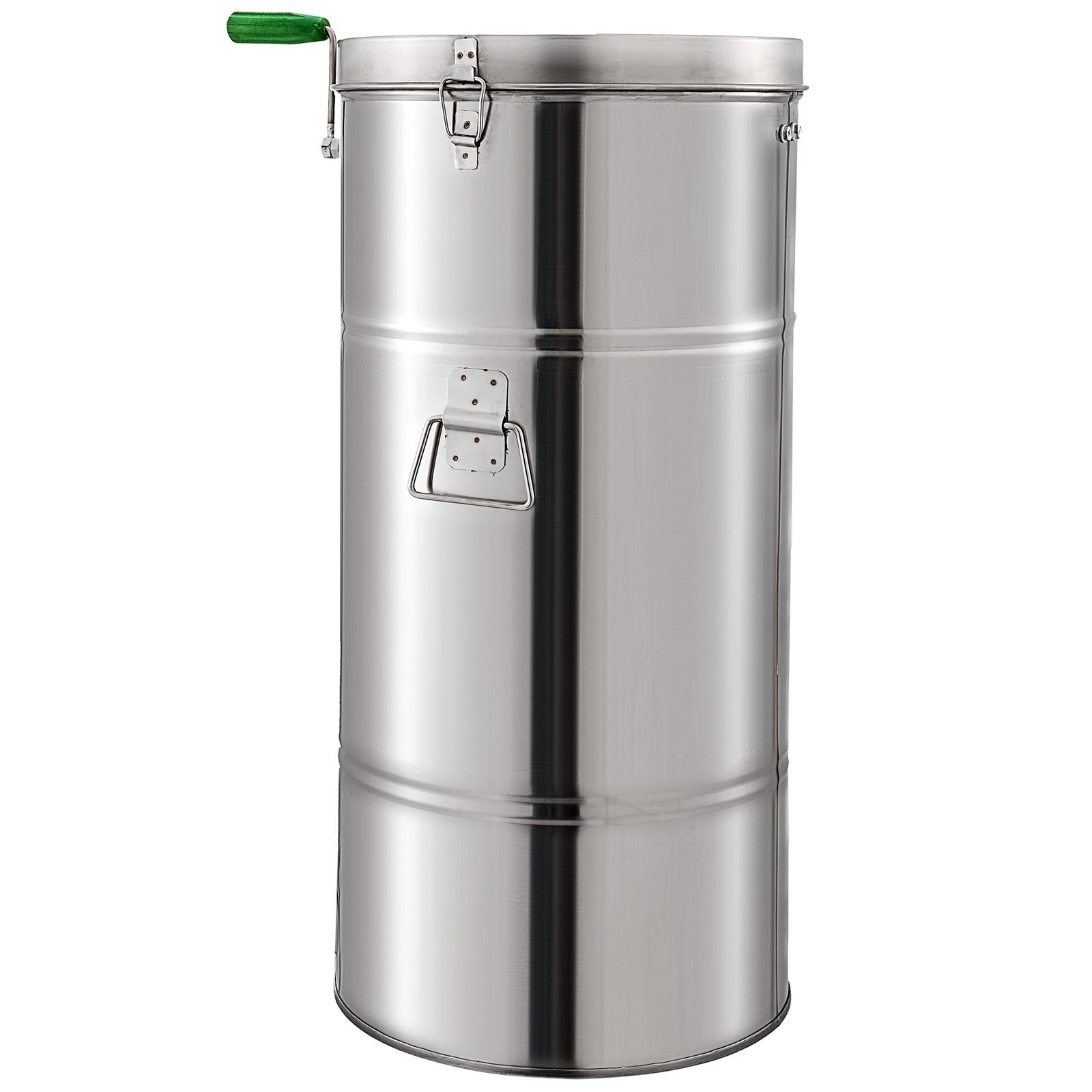 Centrifugeuse Extracteur De Miel Manuel à 2 Cadres Inoxydable 201 2 couvercles