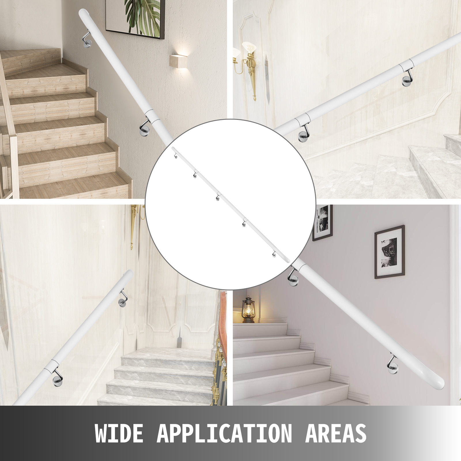 Stair-Handrail-Stair-Rail-Aluminum-Indoor-Handrail-for-Stairs-3-16-039-White-200lbs thumbnail 139