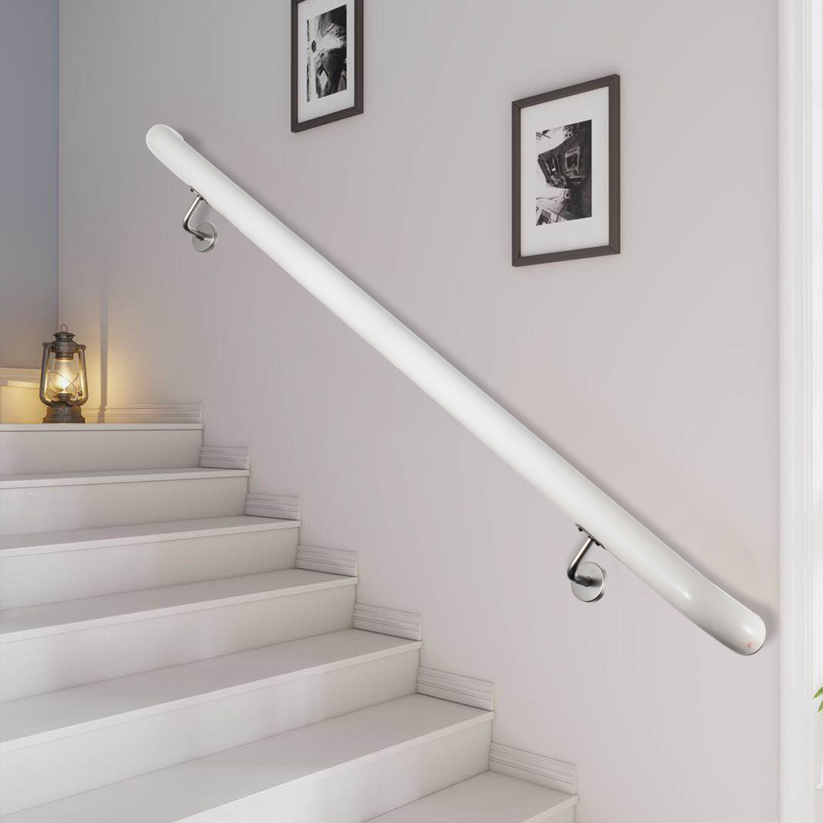 Stair-Handrail-Stair-Rail-Aluminum-Indoor-Handrail-for-Stairs-3-16-039-White-200lbs thumbnail 37