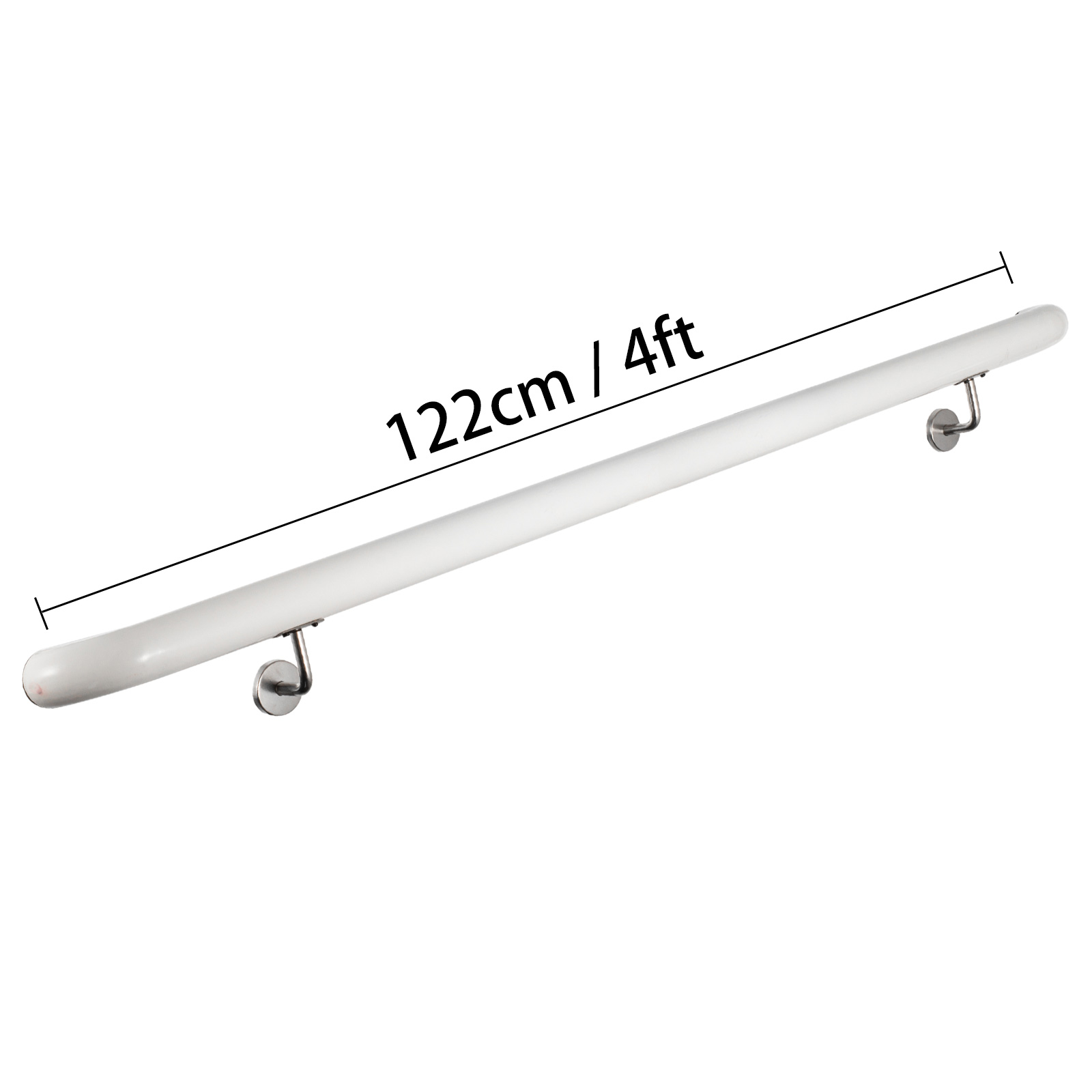 Stair-Handrail-Stair-Rail-Aluminum-Indoor-Handrail-for-Stairs-3-16-039-White-200lbs thumbnail 44