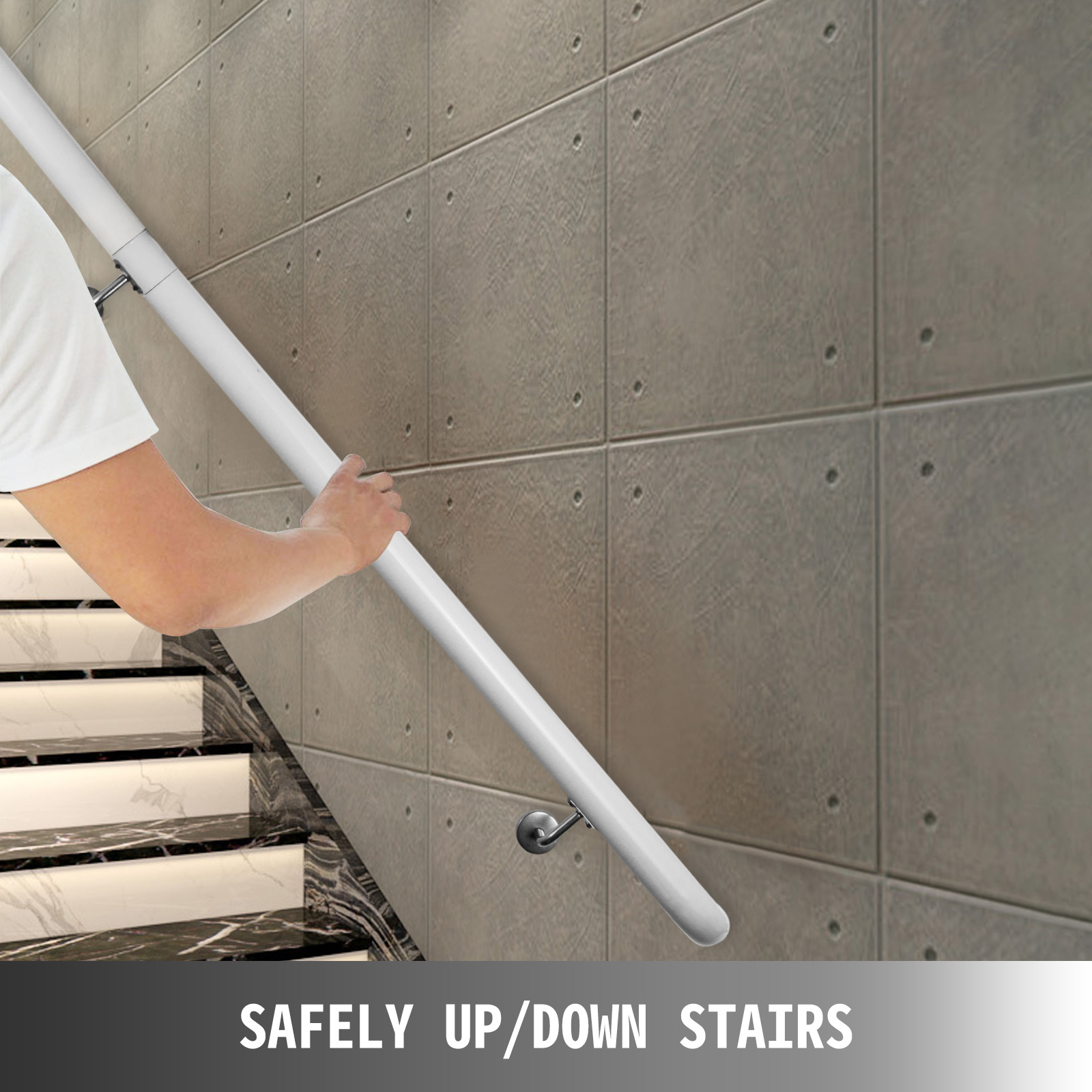 Stair-Handrail-Stair-Rail-Aluminum-Indoor-Handrail-for-Stairs-3-16-039-White-200lbs thumbnail 87