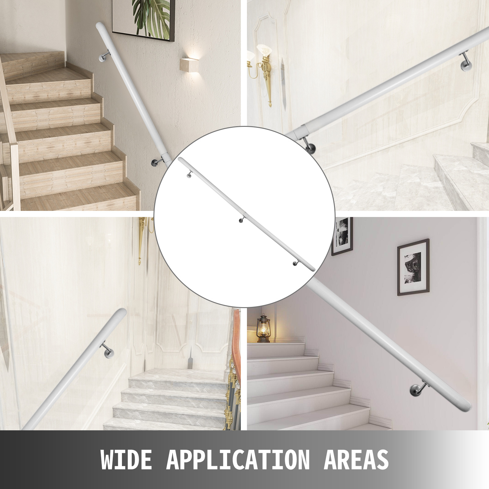 Stair-Handrail-Stair-Rail-Aluminum-Indoor-Handrail-for-Stairs-3-16-039-White-200lbs thumbnail 91