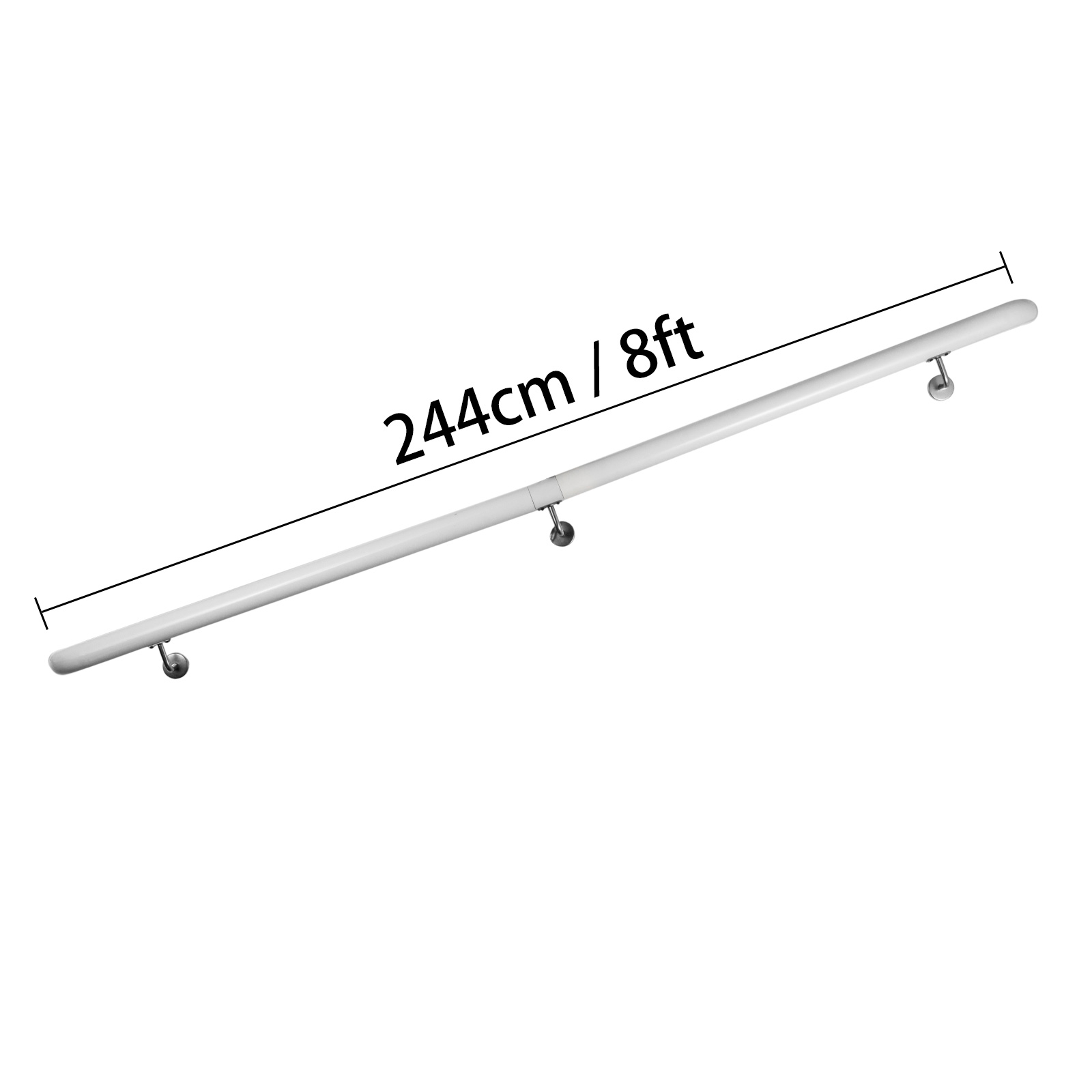 Stair-Handrail-Stair-Rail-Aluminum-Indoor-Handrail-for-Stairs-3-16-039-White-200lbs thumbnail 92