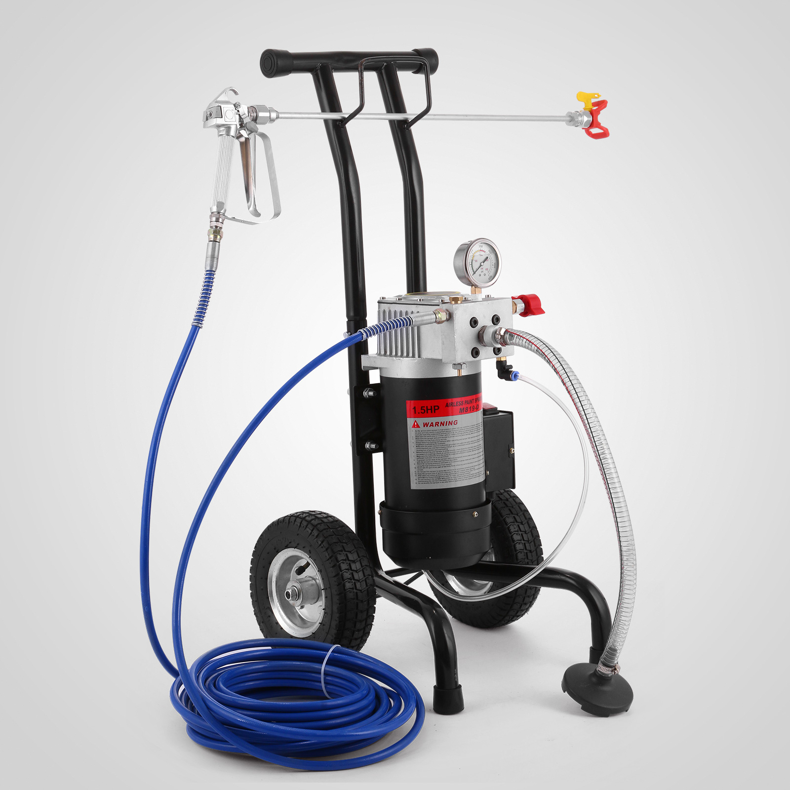 Details about All-in-One Airless Paint Sprayer Spray Gun Painting High  Pressure 220Bar 1 5HP