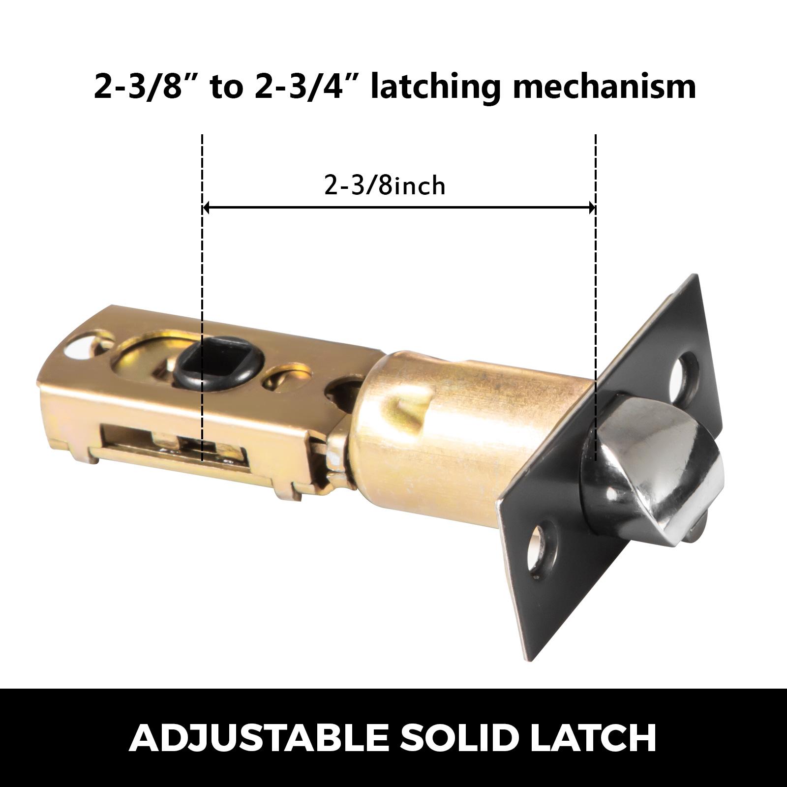 Door-Handles-Matte-Black-Door-Lever-3-5-10-Pack-Passage-Privace-Entry-Lock-Set thumbnail 16