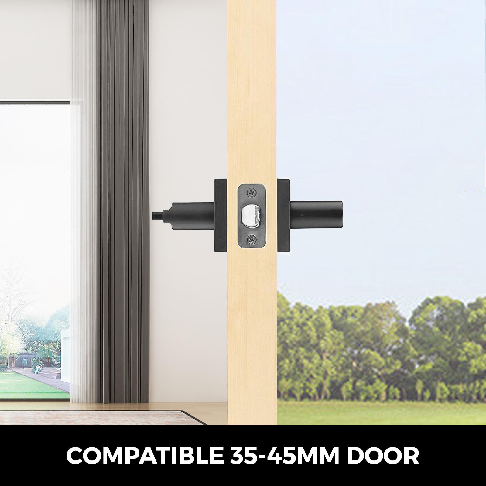 Door-Handles-Matte-Black-Door-Lever-3-5-10-Pack-Passage-Privace-Entry-Lock-Set thumbnail 89
