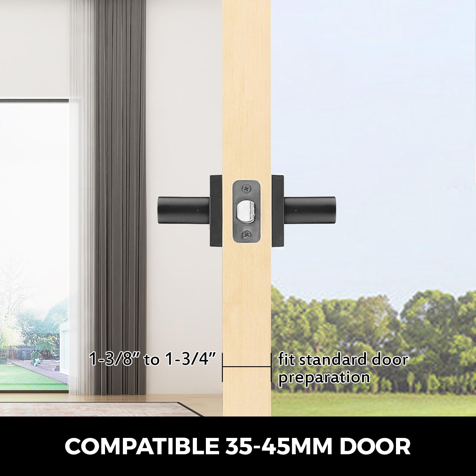 Door-Handles-Matte-Black-Door-Lever-3-5-10-Pack-Passage-Privace-Entry-Lock-Set thumbnail 29
